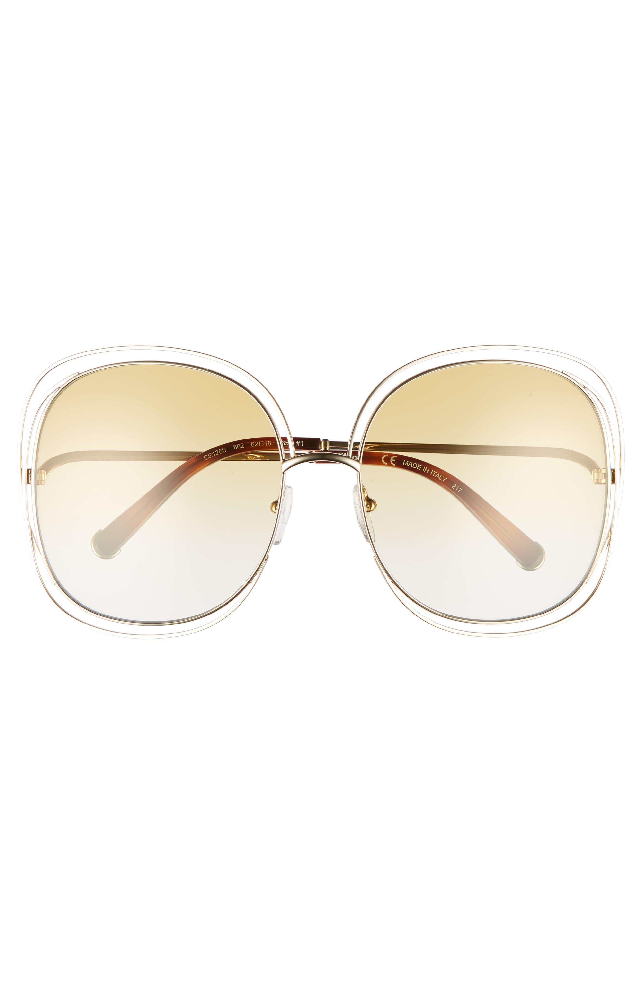 Alternate Image 3  - Chloé Carlina 62mm Oversize Sunglasses
