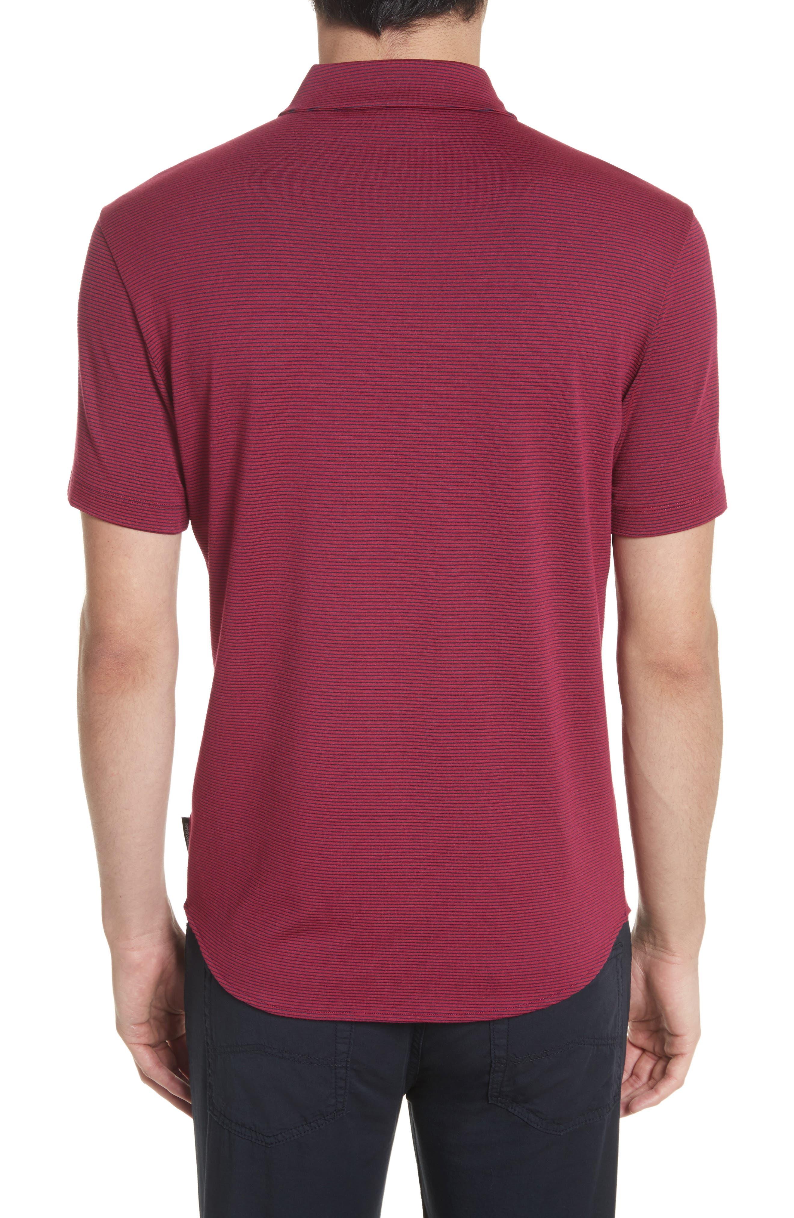 Slim Fit Knit Shirt,                             Alternate thumbnail 2, color,                             Borgogna