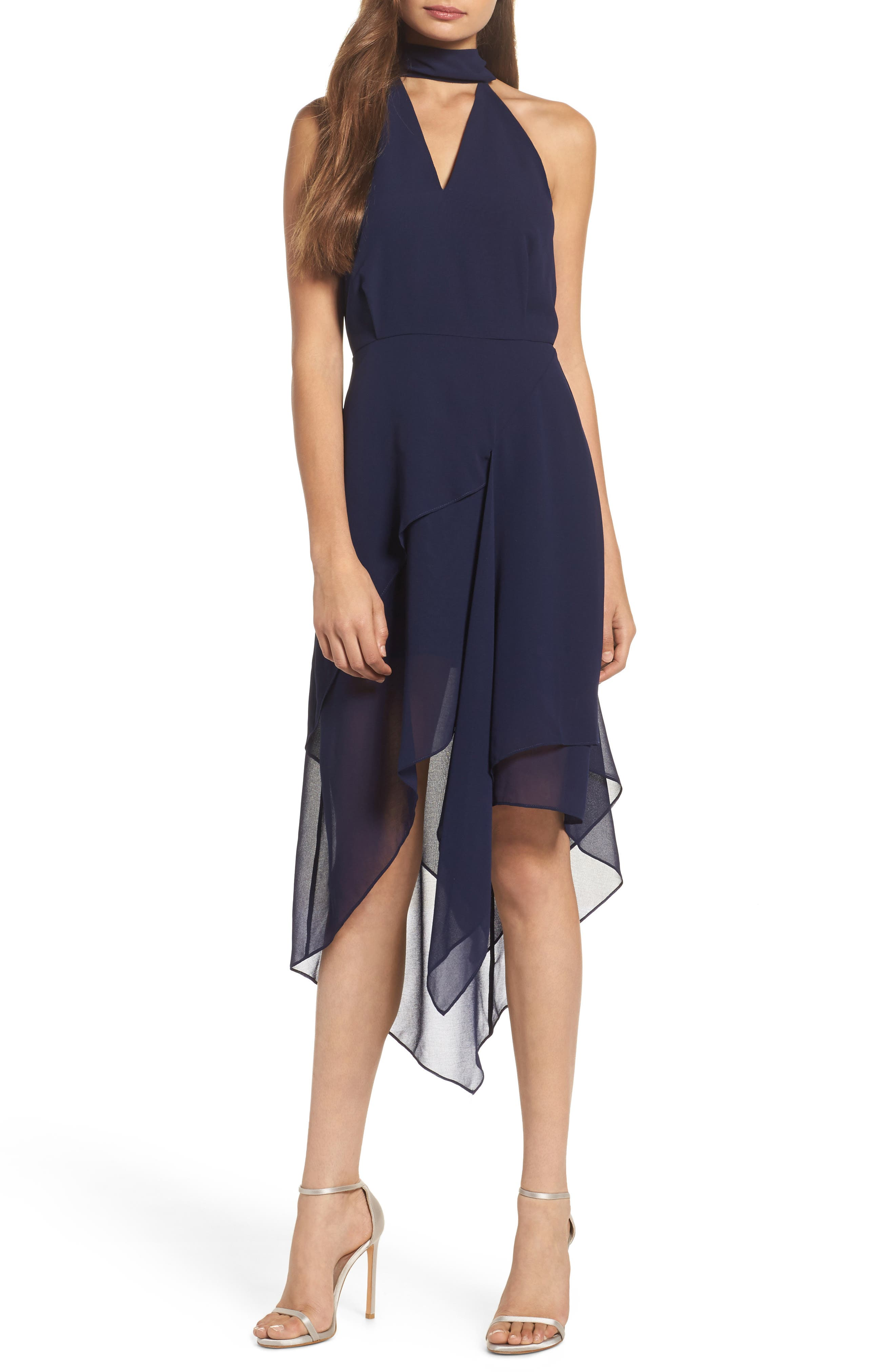 Love Burns Halter Dress,                         Main,                         color, Navy