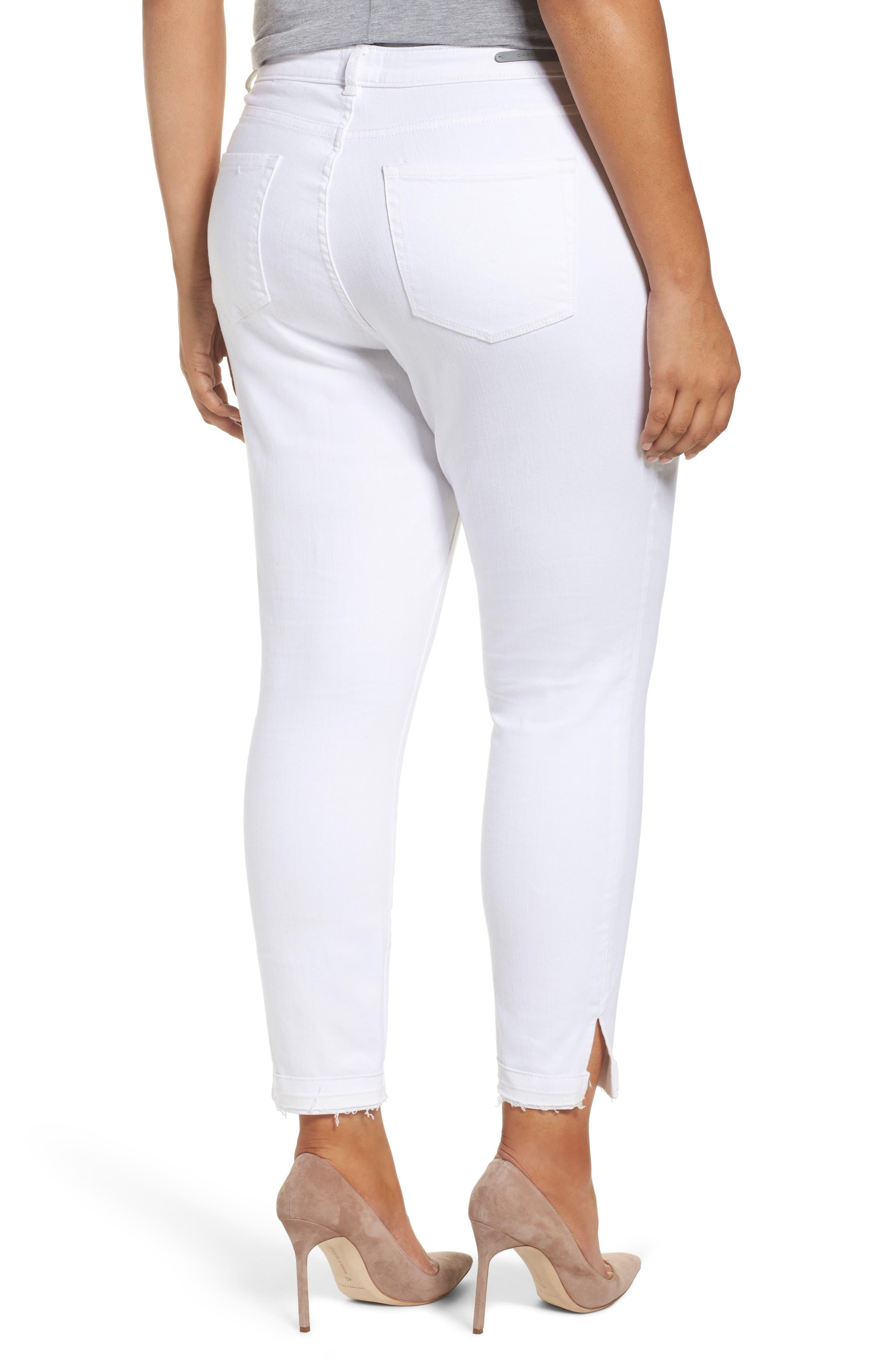 Release Hem Skinny Jeans,                             Alternate thumbnail 2, color,                             White