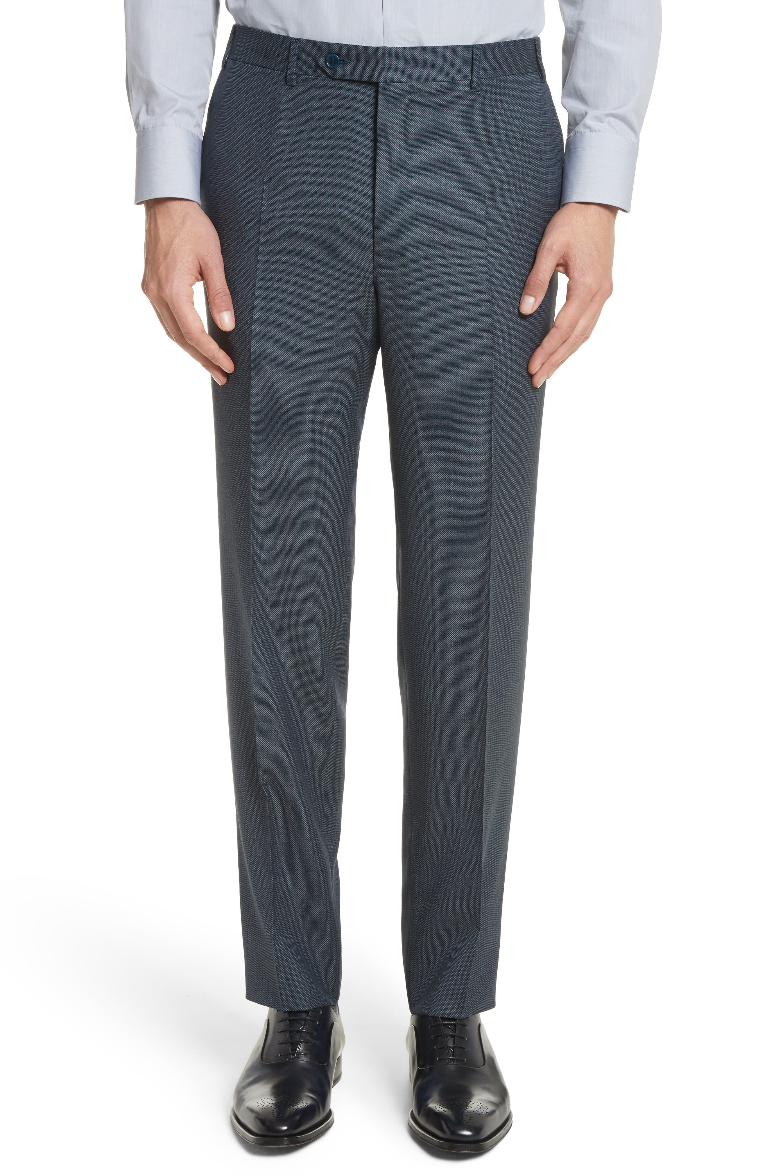 Classic Fit Solid Wool Suit,                             Alternate thumbnail 6, color,                             Navy