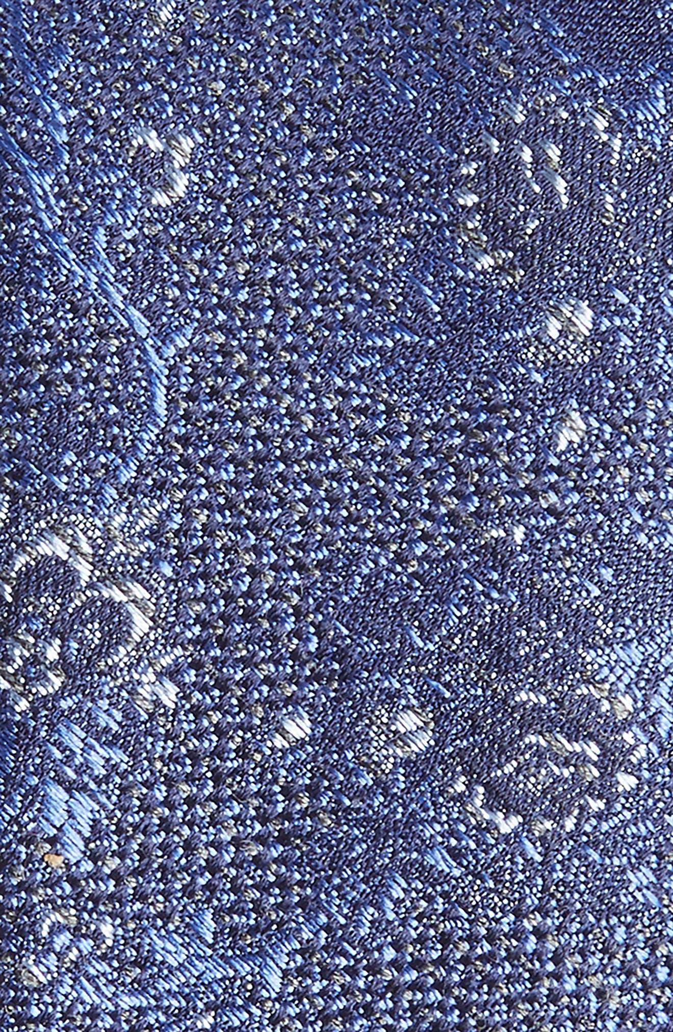 Jacquard Silk Blend Skinny Tie,                             Alternate thumbnail 2, color,                             Blue