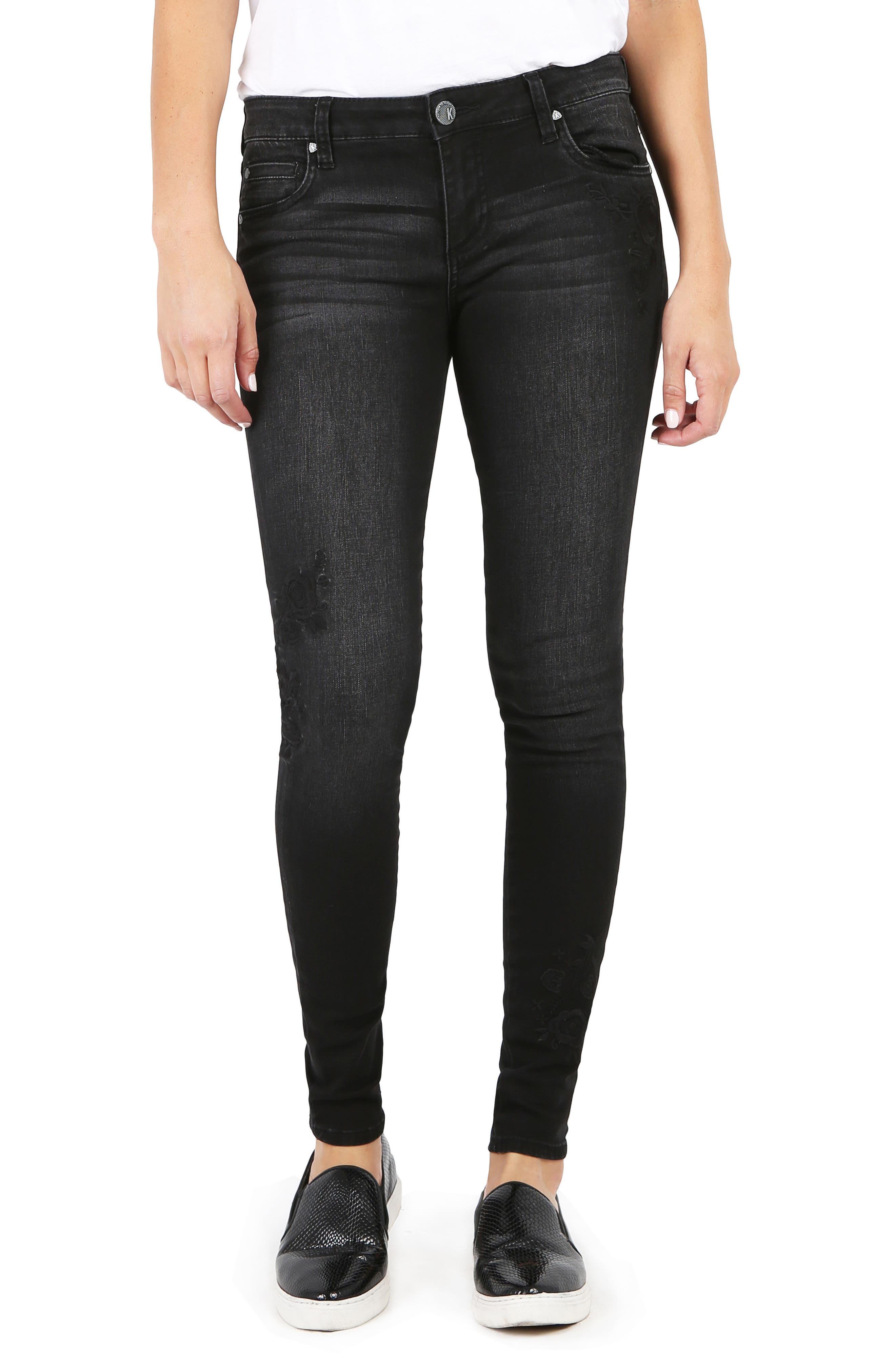 Low rise skinny grey jeans