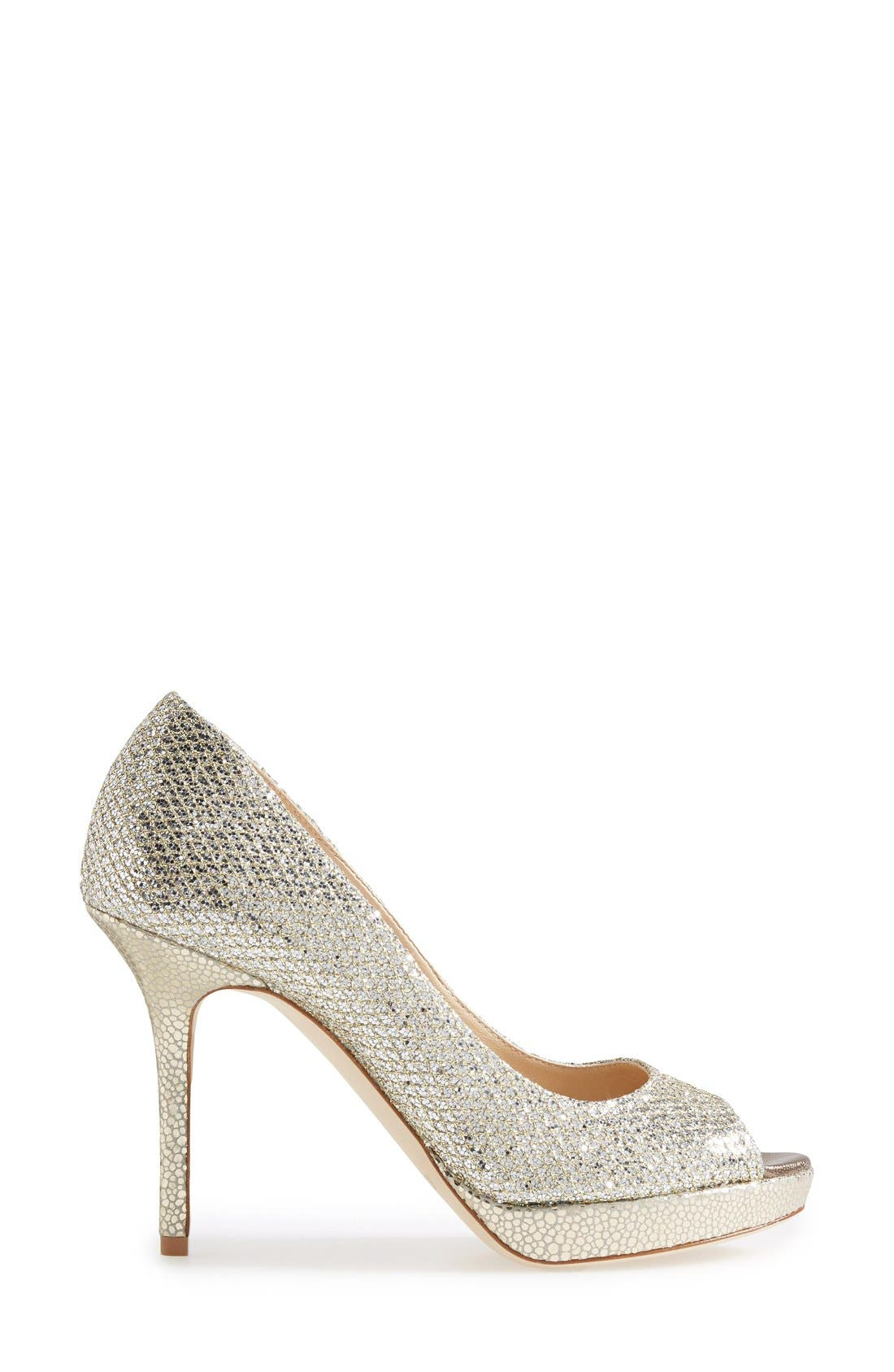 Alternate Image 4  - Jimmy Choo Luna Peep Toe Pump (Women)