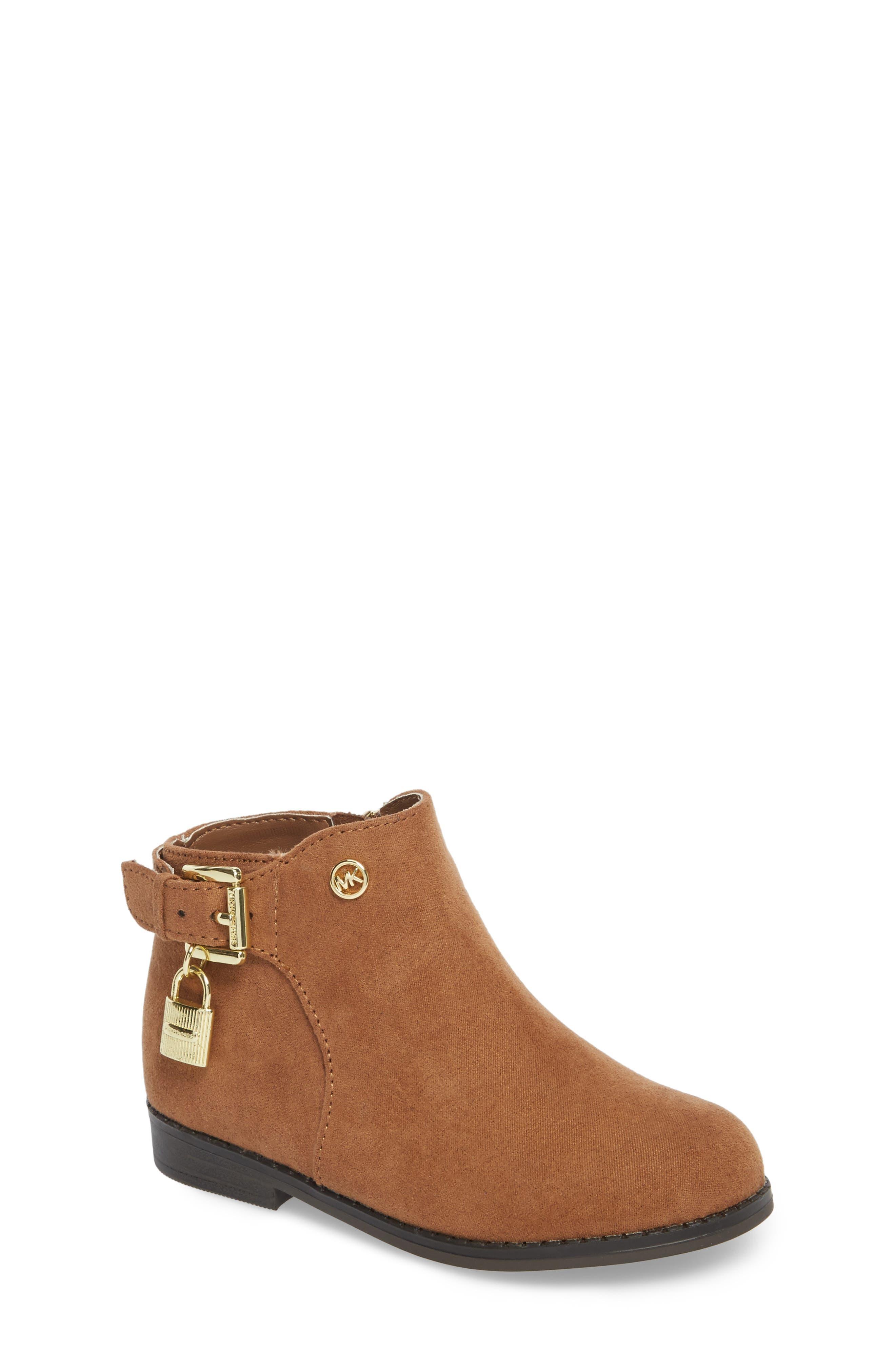 Emma Shine Boot,                         Main,                         color, Caramel Micro