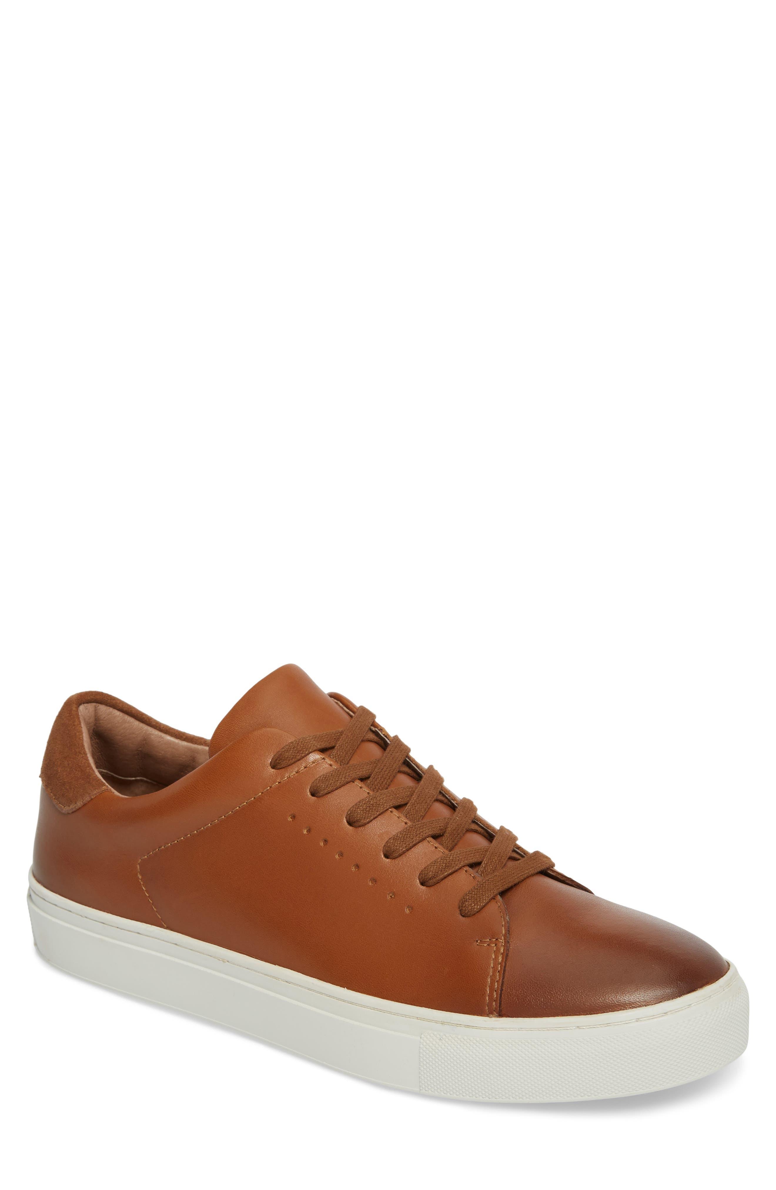 Desmond Sneaker,                             Main thumbnail 1, color,                             Tan Leather