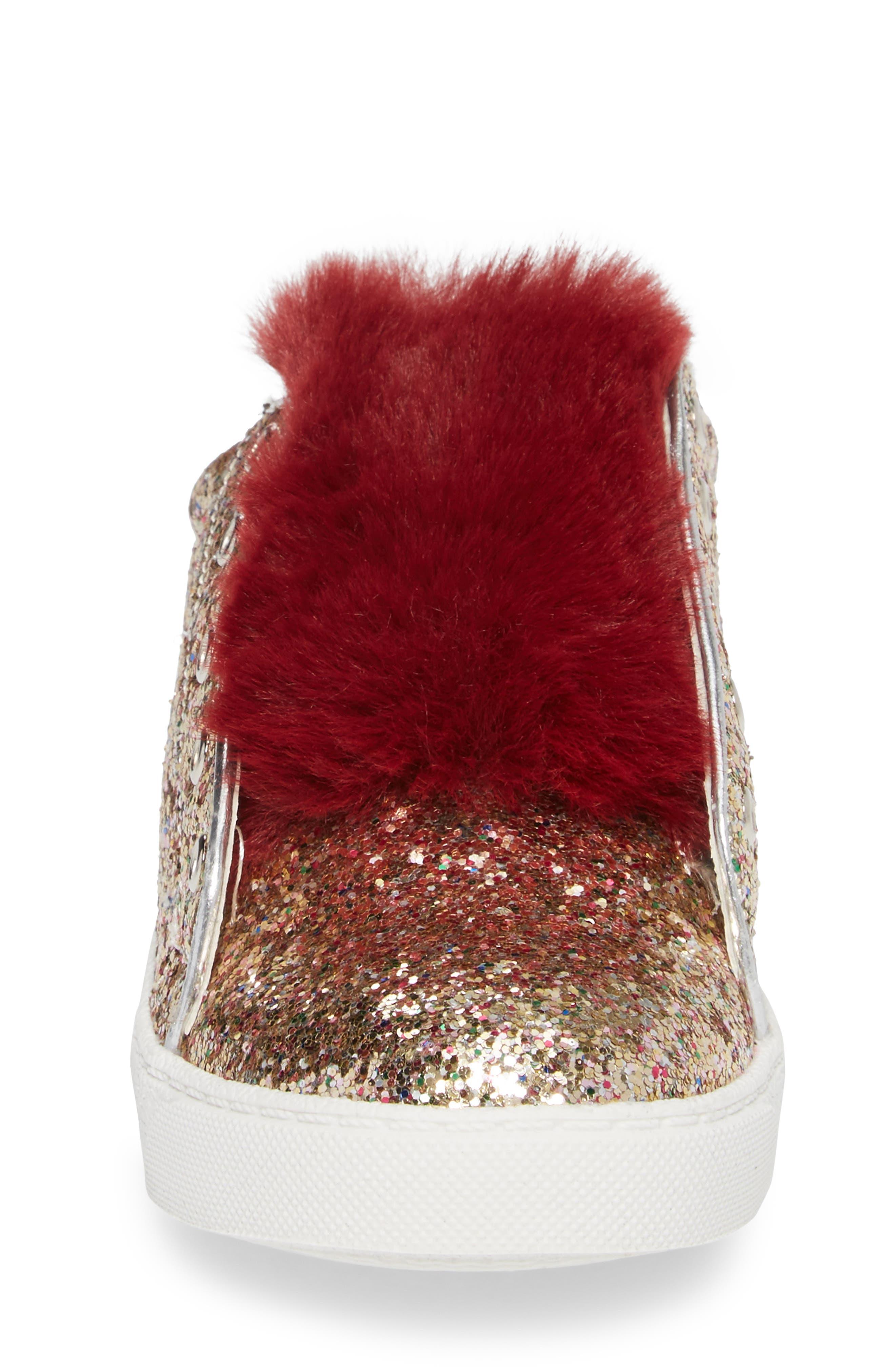 Alternate Image 4  - Sam Edelman Britt Rita Faux Fur Glitter Sneaker (Toddler, Little Kid & Big Kid)