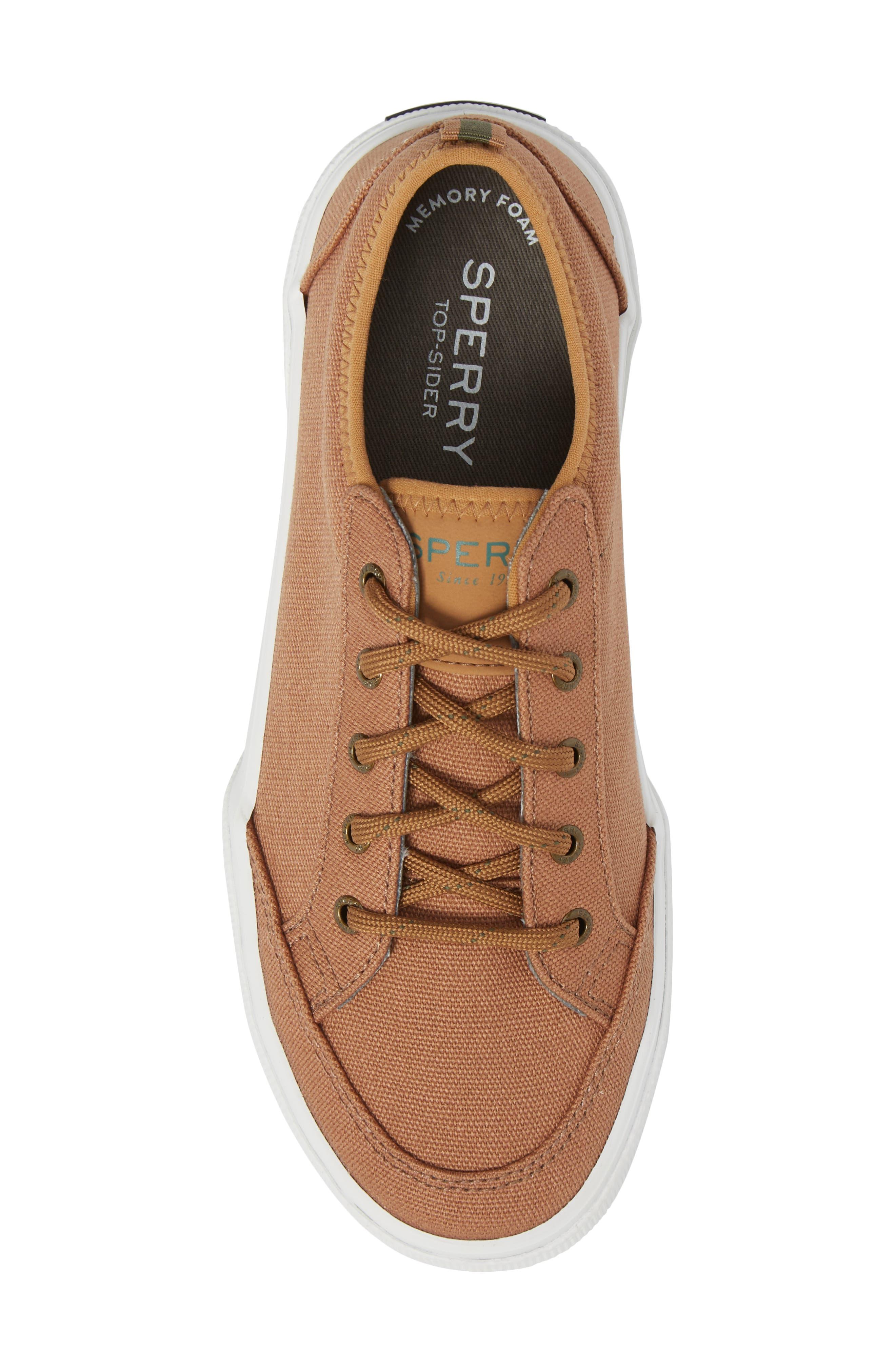Sperry Deckfin Sneaker,                             Alternate thumbnail 5, color,                             Caramel