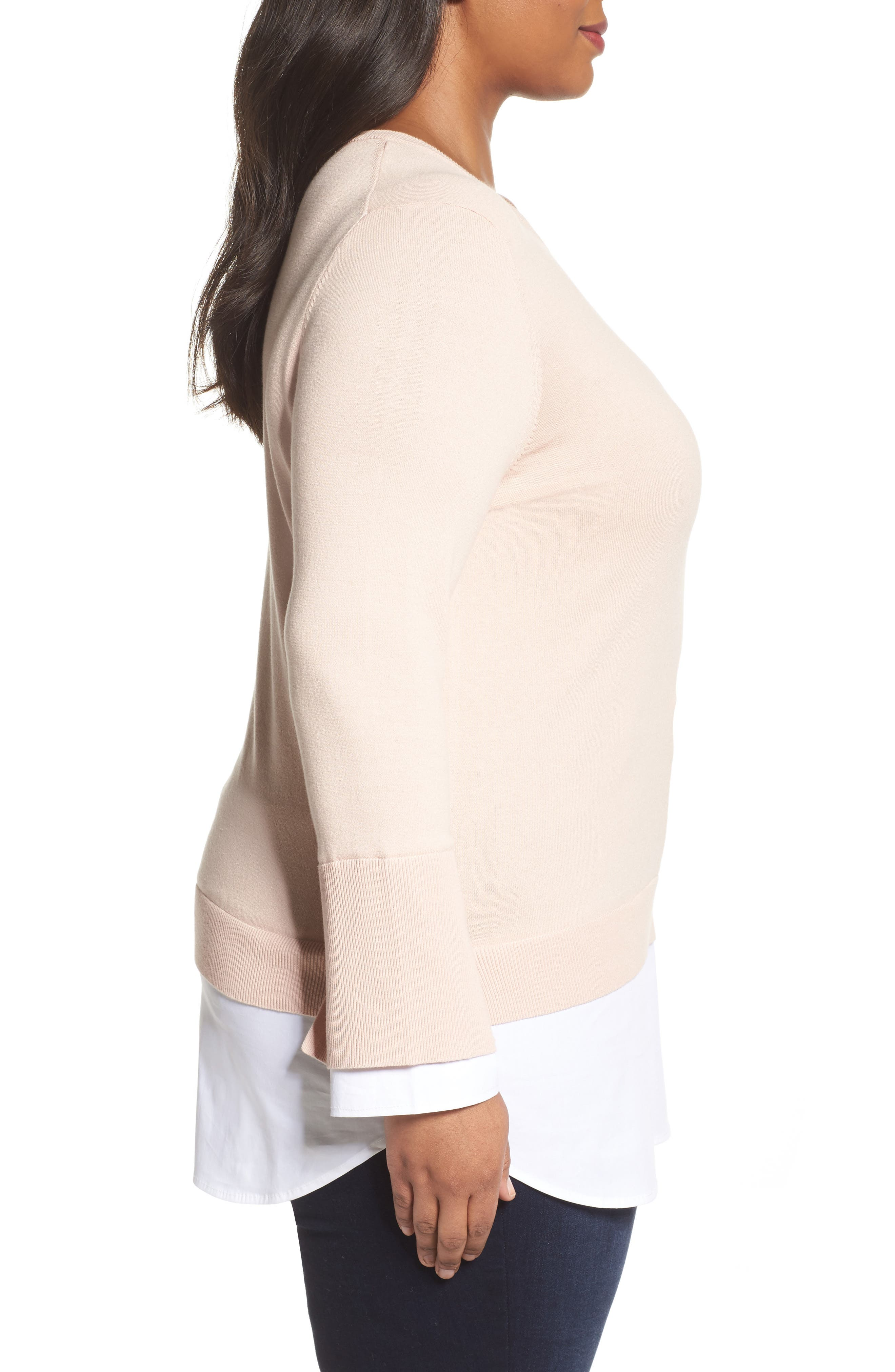 Alternate Image 3  - Vince Camuto Layered Look Sweater (Plus Size)