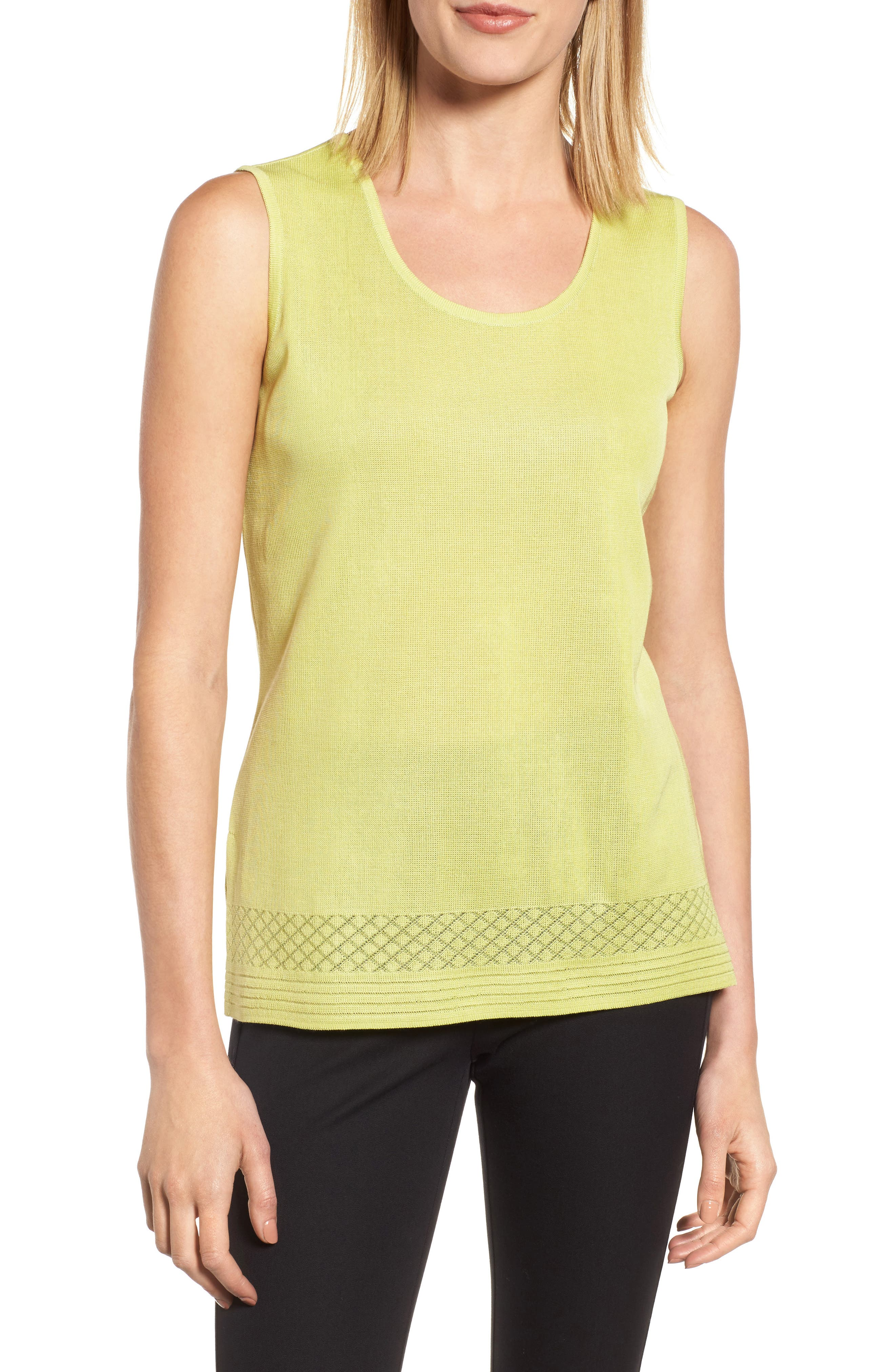 Scoop Neck Knit Tank,                         Main,                         color, Aurora