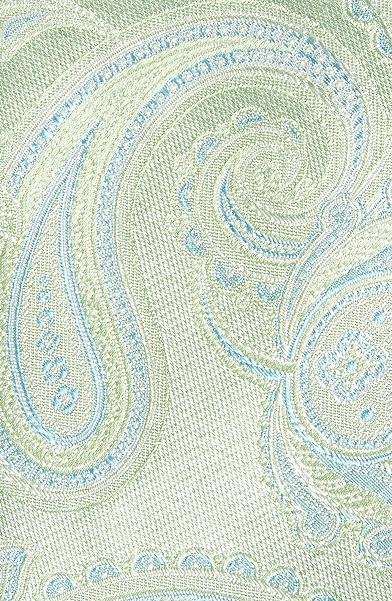 Barga Paisley Silk Tie,                             Alternate thumbnail 2, color,                             Green