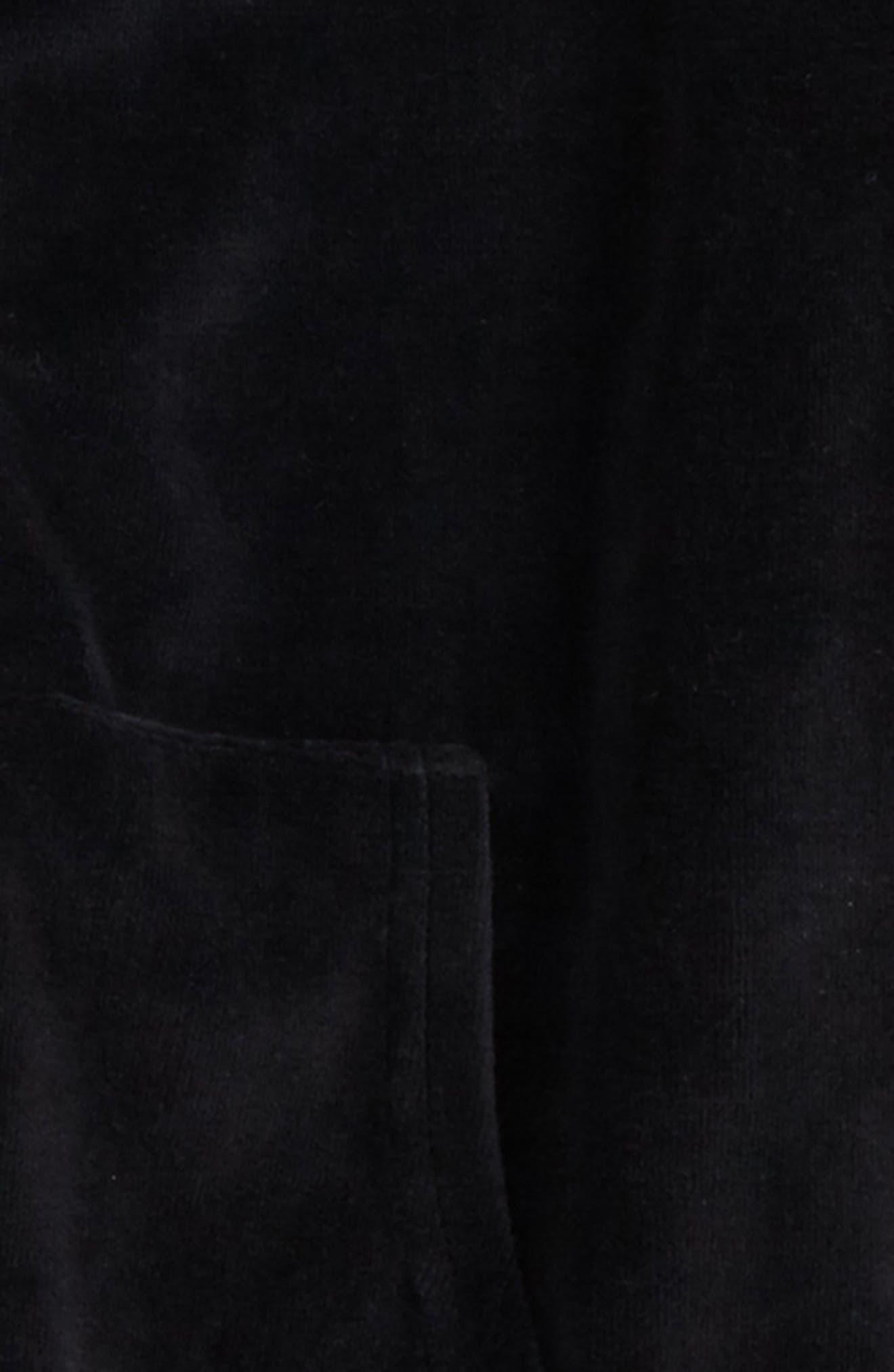 Velour Hoodie,                             Alternate thumbnail 2, color,                             Black