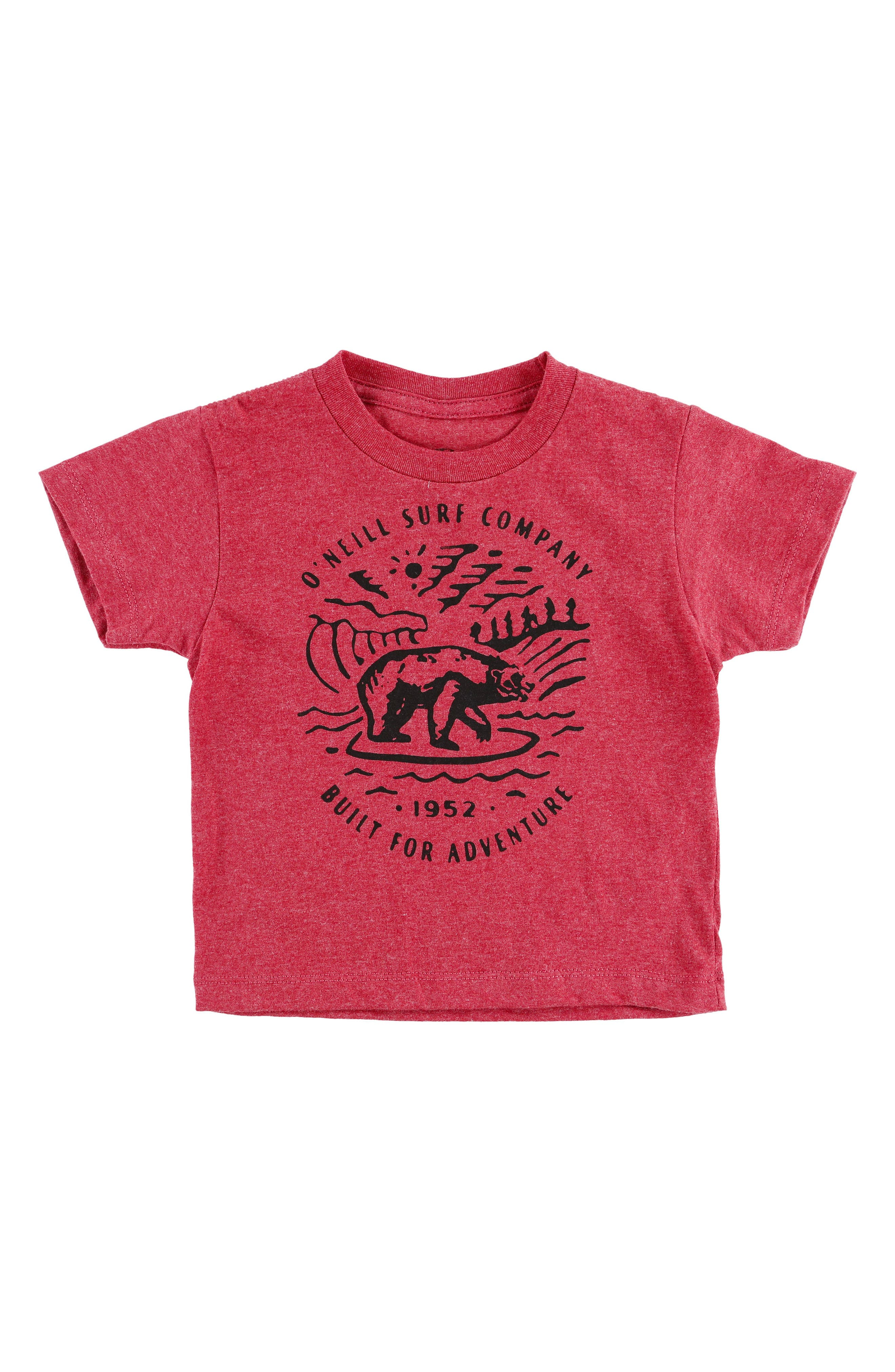 Roamer T-Shirt,                         Main,                         color, Heather Red
