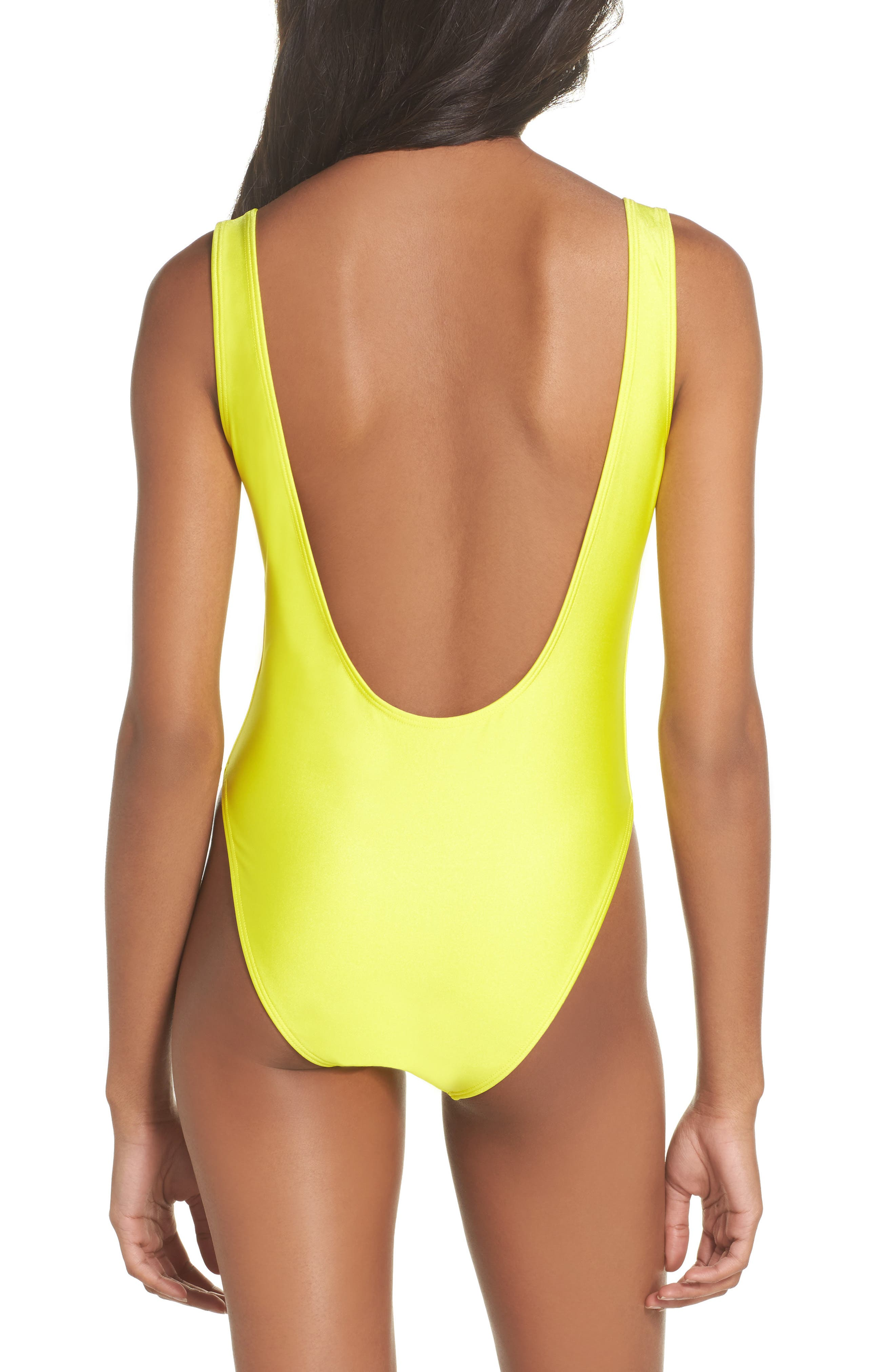 Alternate Image 2  - Private Party Classic Pineapple Neon One-Piece Swimsuit