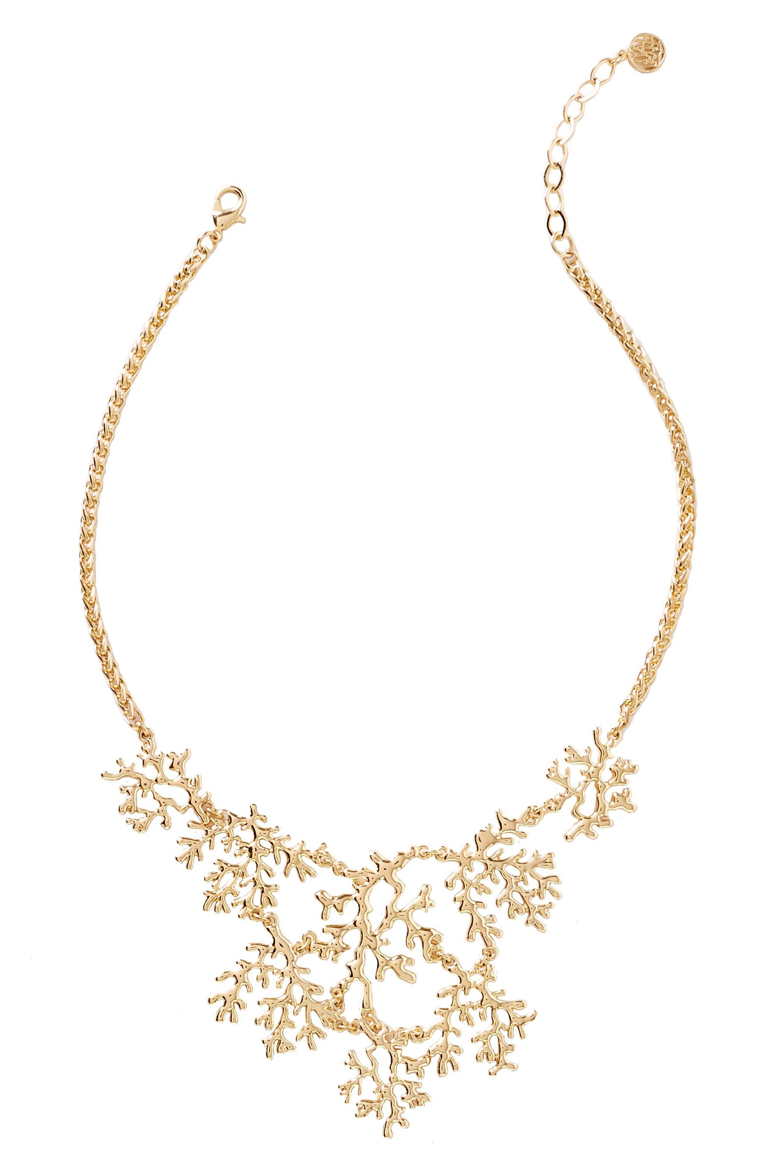 Elsa Necklace,                         Main,                         color, Gold Metallic
