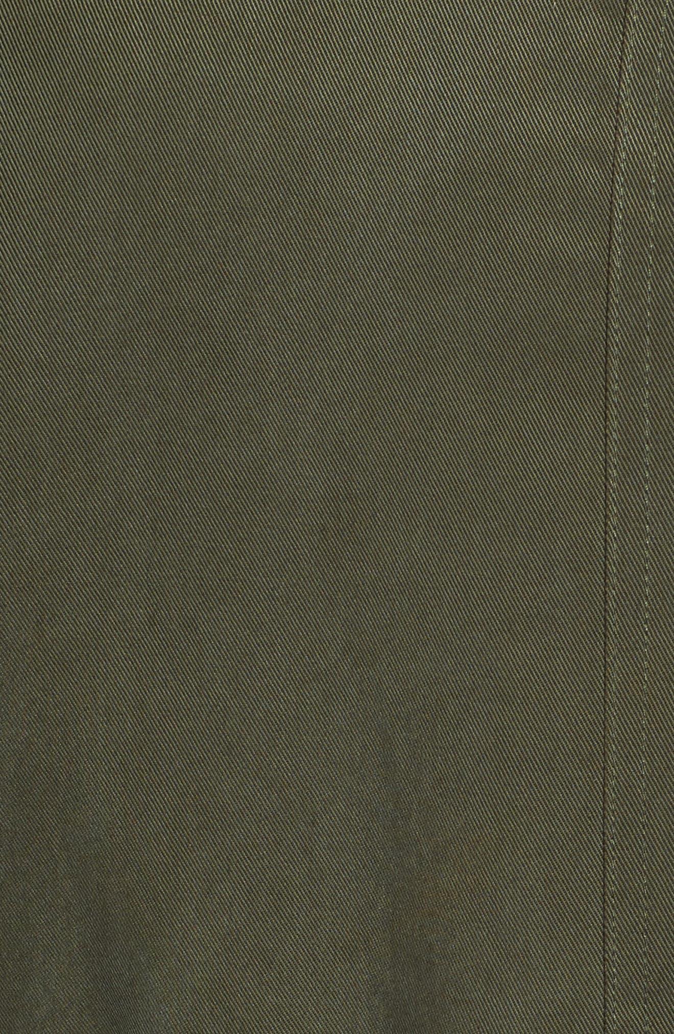 Ashling Faux Fur Lined Utility Vest,                             Alternate thumbnail 5, color,                             Army