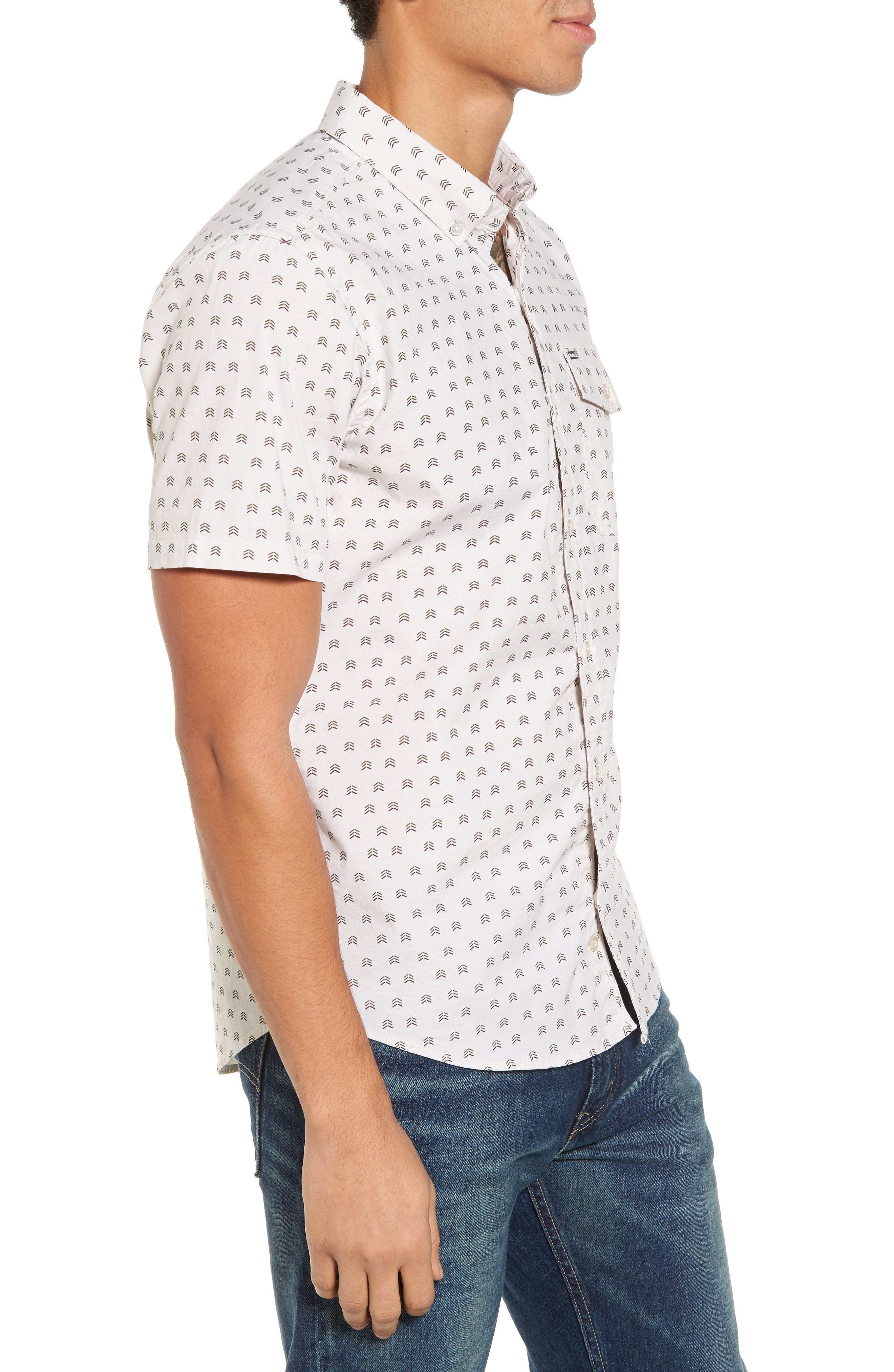Brooks Woven Shirt,                             Alternate thumbnail 3, color,                             Light Orewood Brown