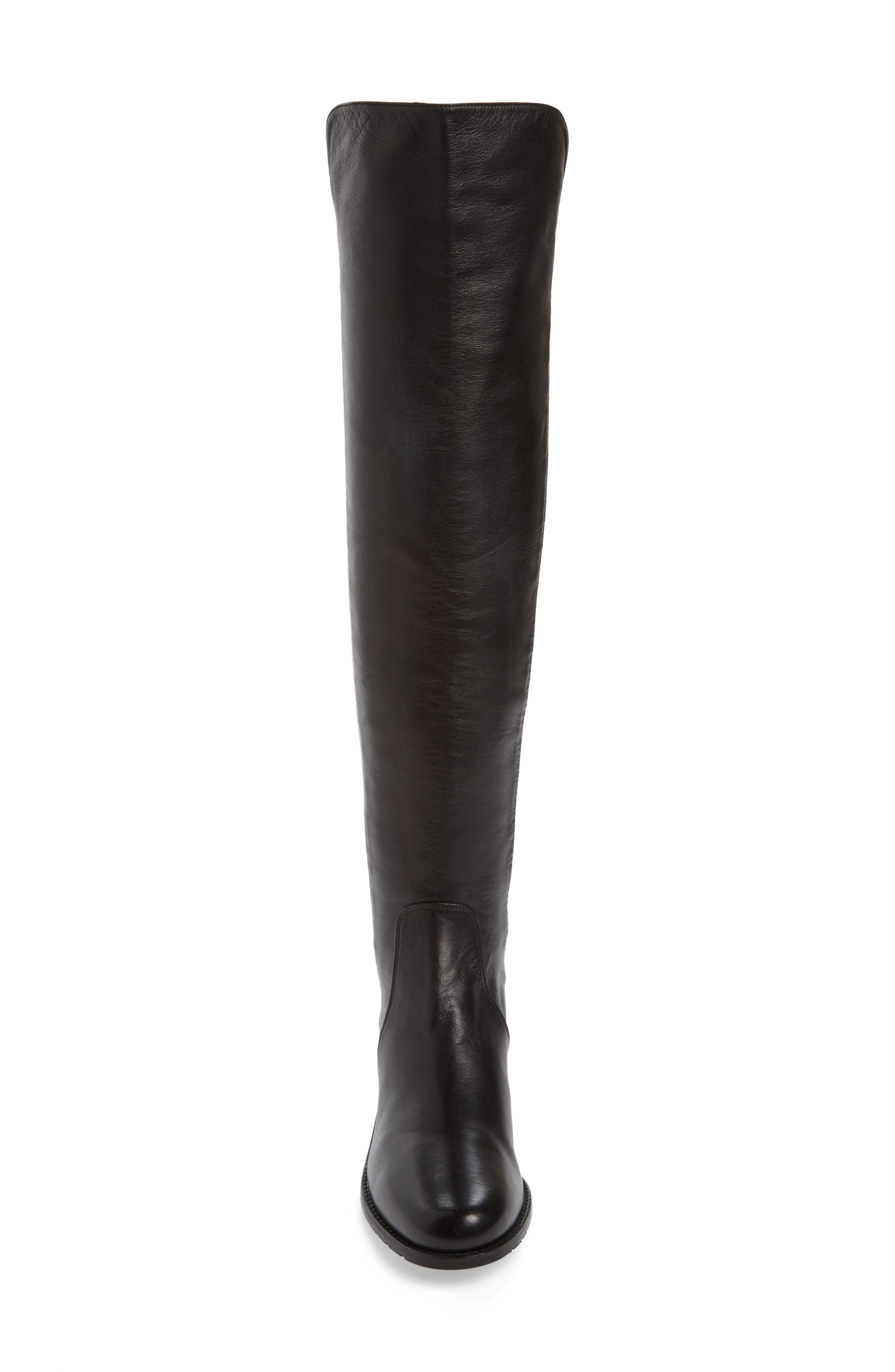 'Reserve' Over the Knee Boot,                             Alternate thumbnail 4, color,                             Black Nappa