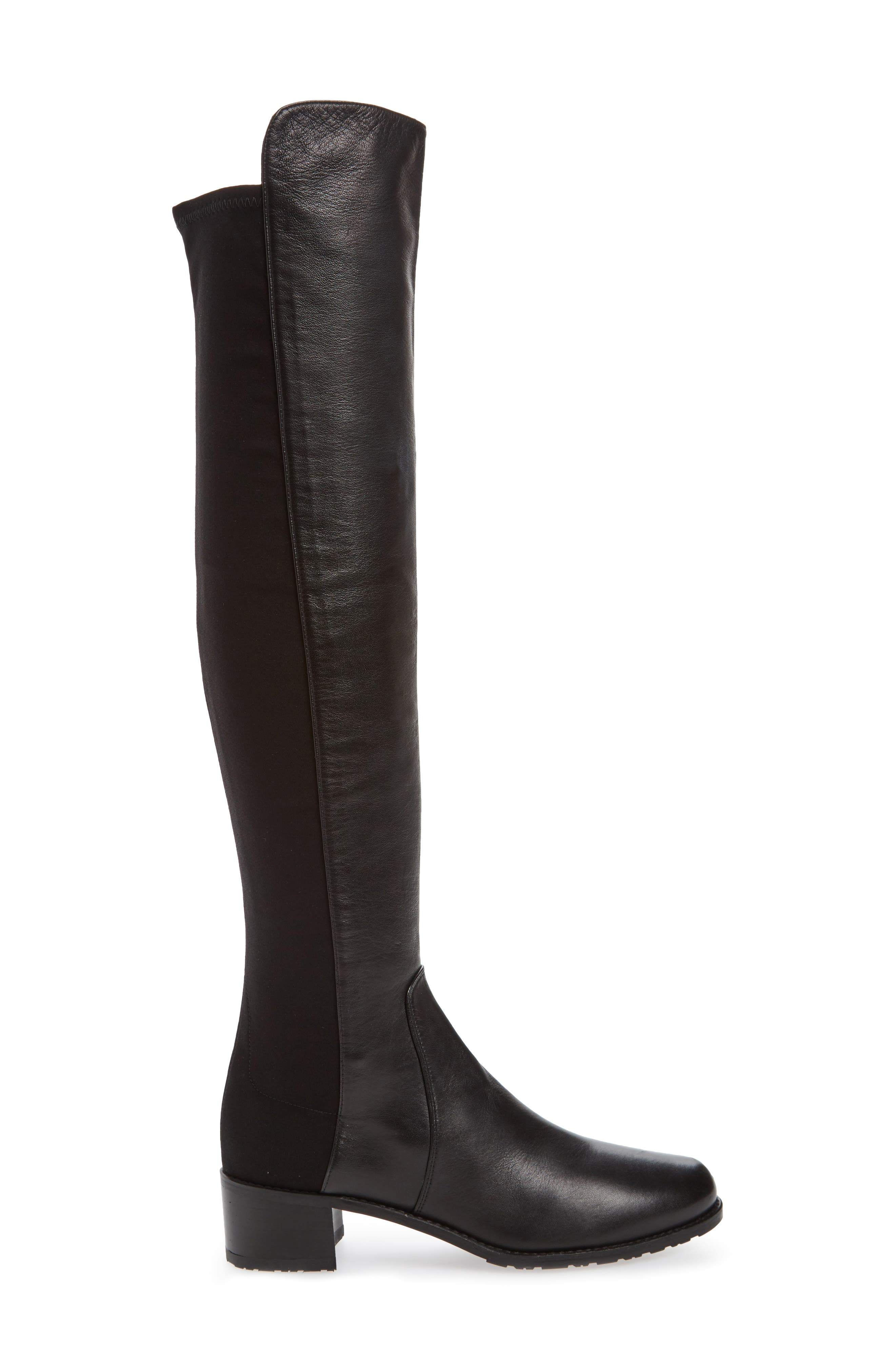 'Reserve' Over the Knee Boot,                             Alternate thumbnail 3, color,                             Black Nappa