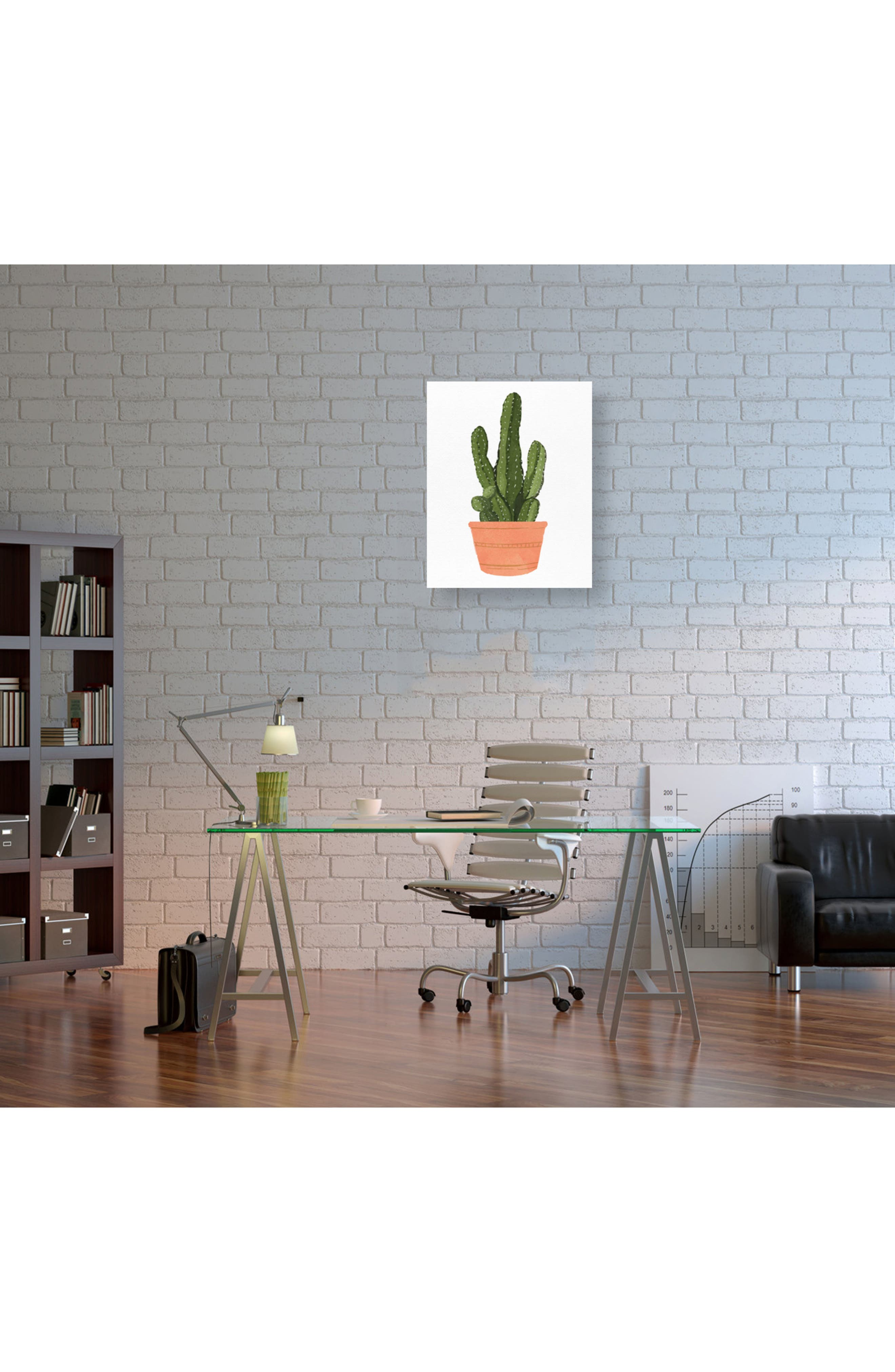 Cactus Coral III Canvas Wall Art,                             Alternate thumbnail 2, color,                             Green