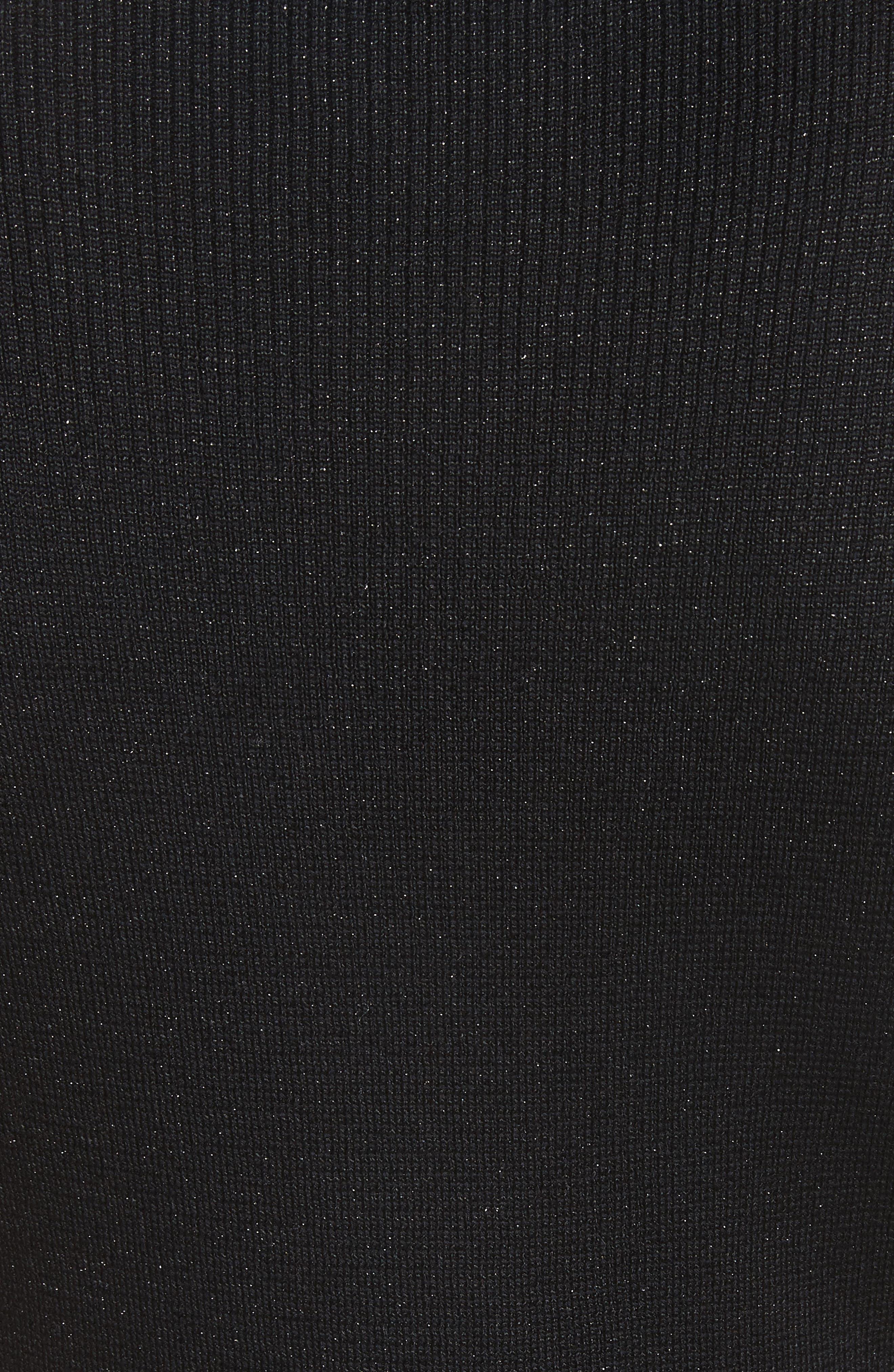 Scallop Trim Knit Top,                             Alternate thumbnail 5, color,                             Caviar Multi