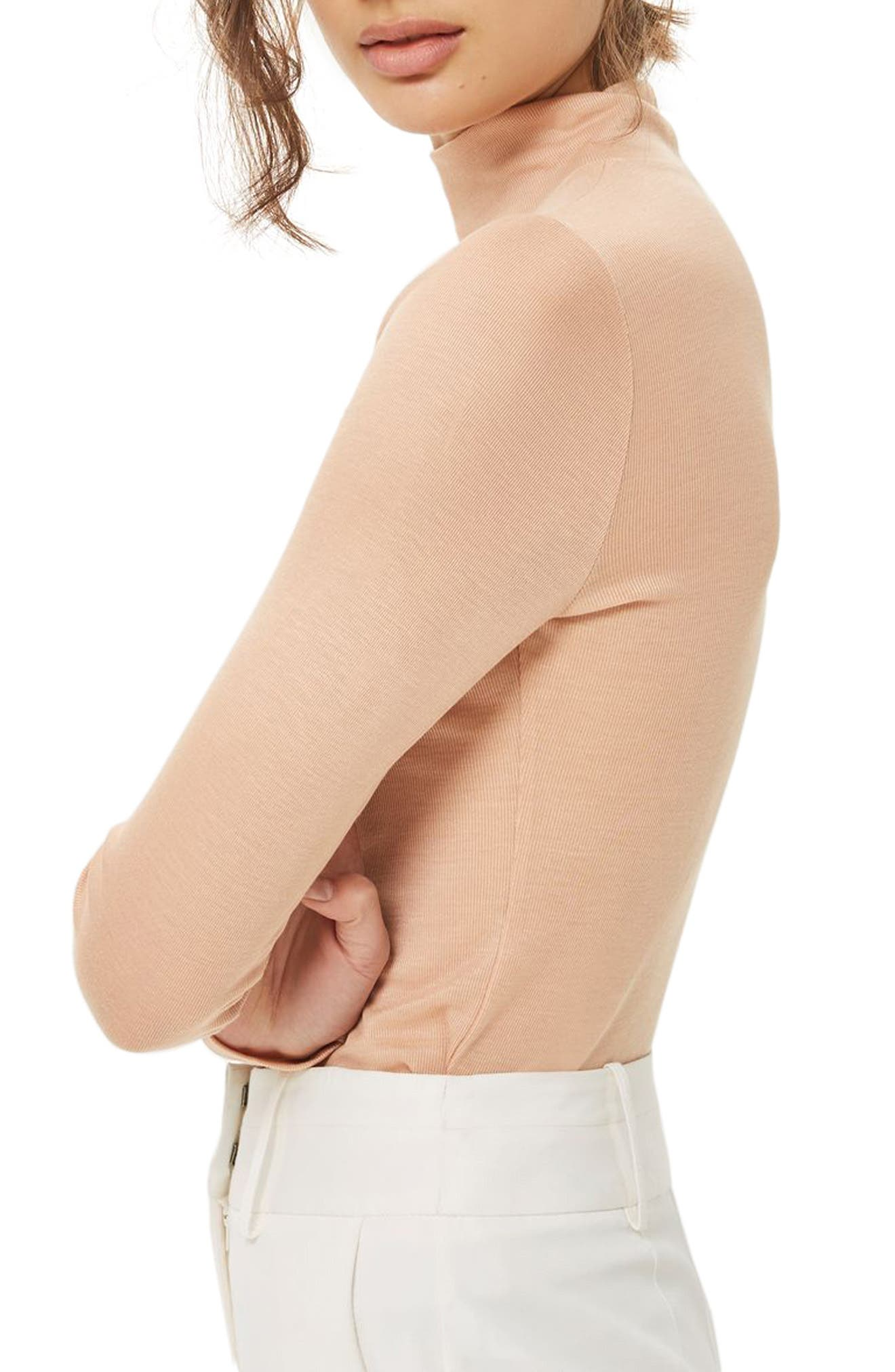 Alternate Image 2  - Topshop Ribbed Turtleneck Top