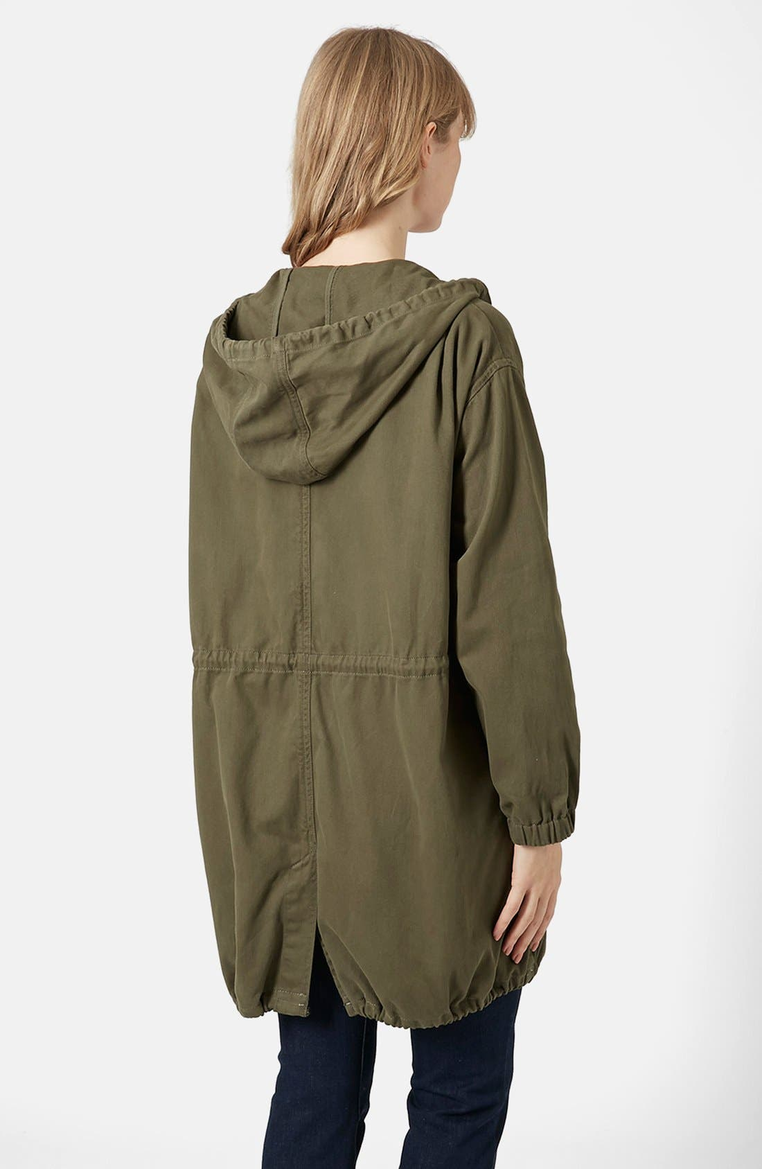 Alternate Image 2  - Topshop 'Marte' Hooded Parka (Brit Pop-In)