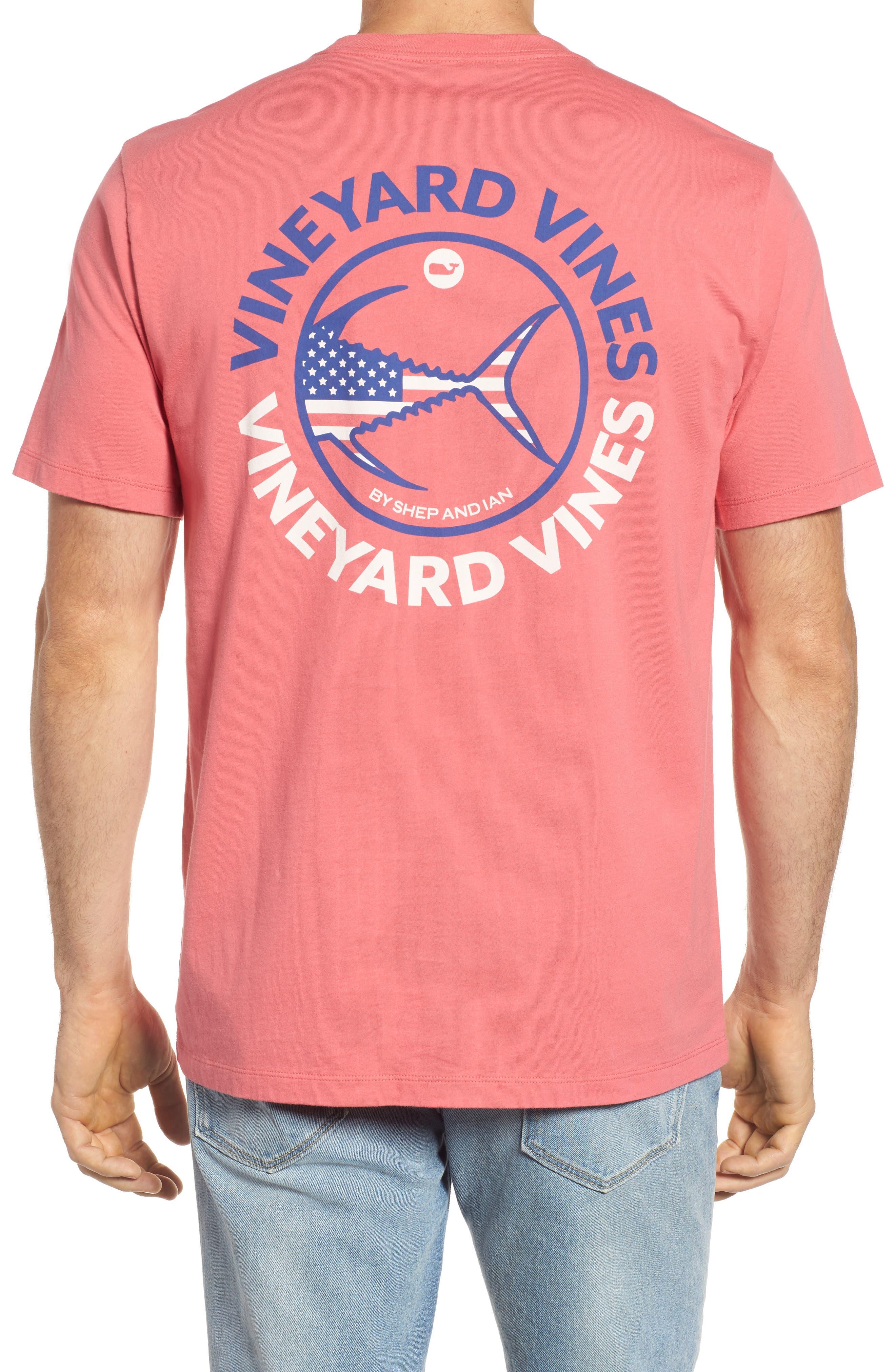 Alternate Image 1 Selected - vineyard vines USA Tuna Graphic Pocket T-Shirt