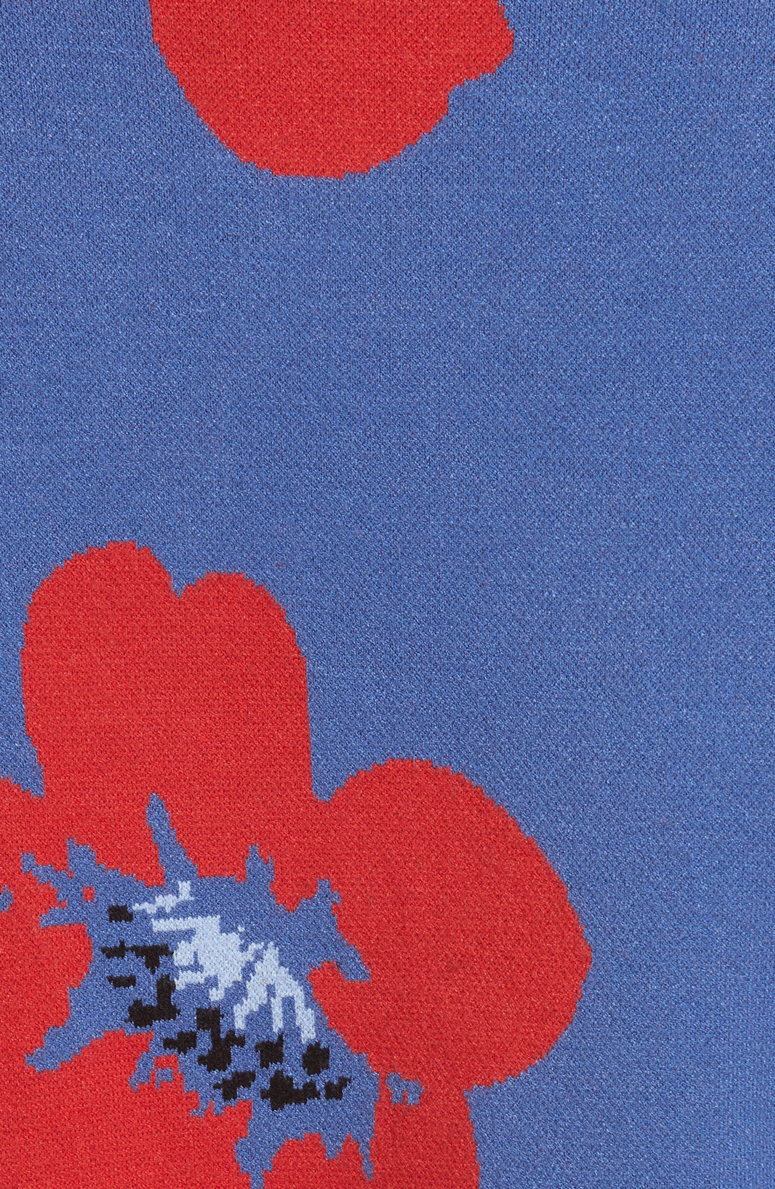 Leena Floral Crop Sweatshirt,                             Alternate thumbnail 5, color,                             Blue Quartz Multi