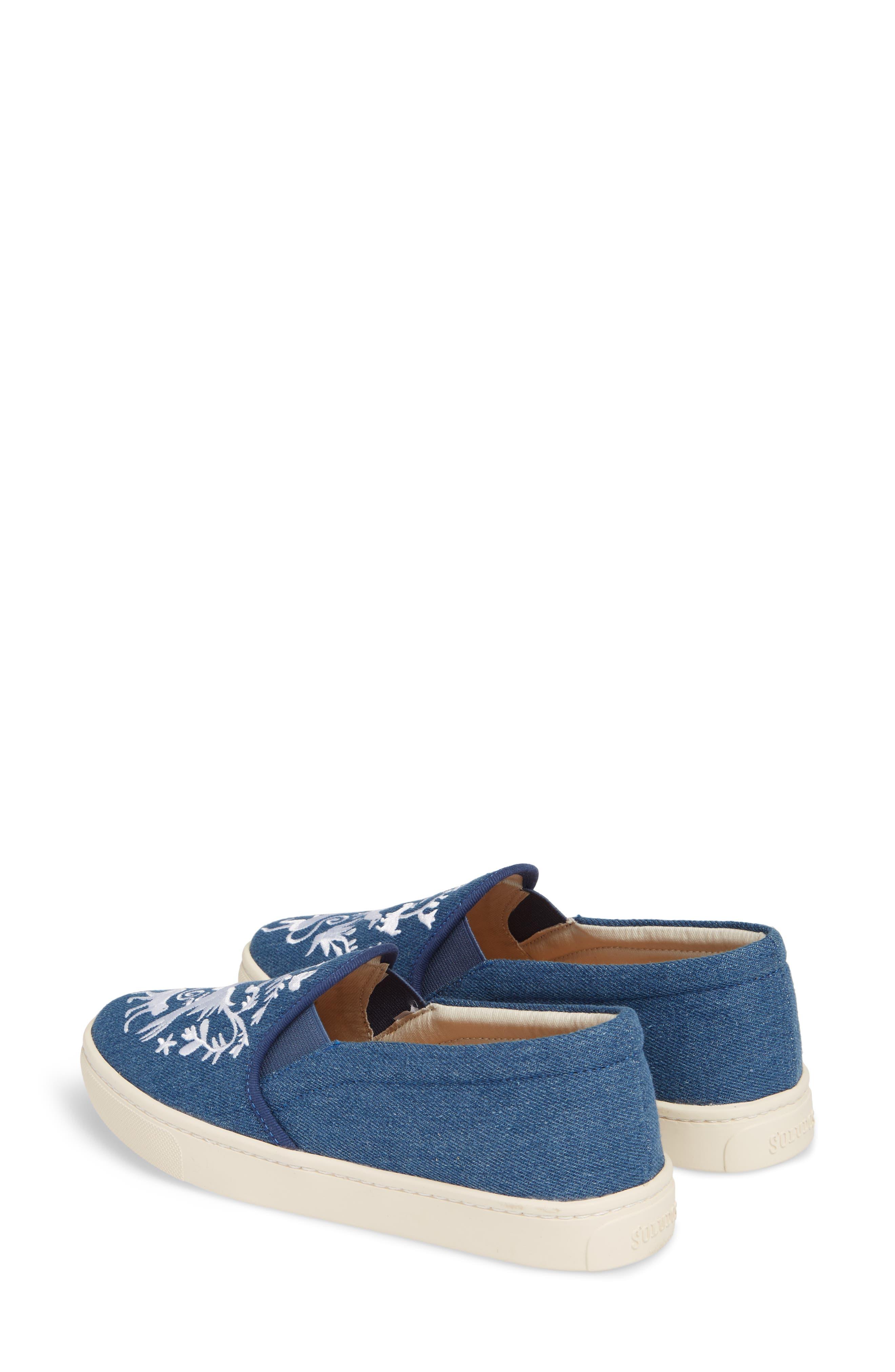 Otomi Slip-On Sneaker,                             Alternate thumbnail 3, color,                             Denim Fabric