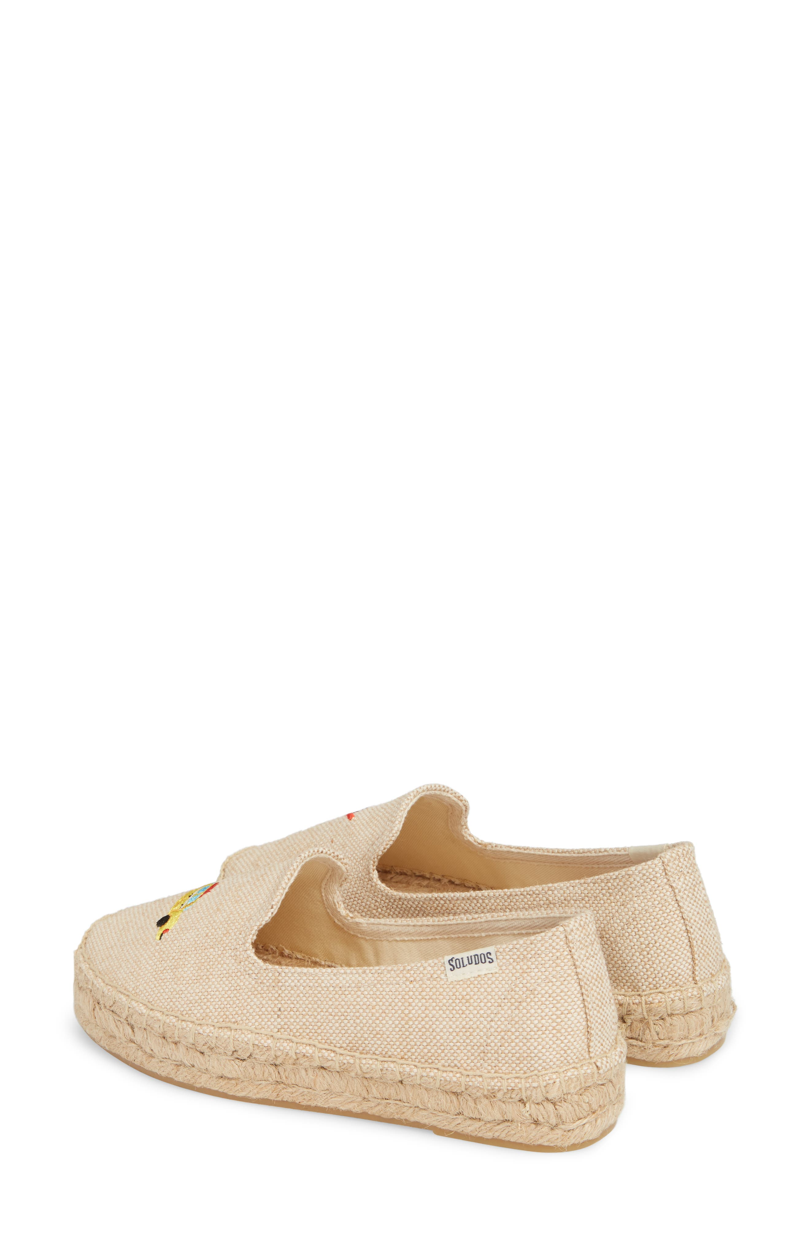 Taxi Embroidered Platform Espadrille,                             Alternate thumbnail 3, color,                             Natural Canvas