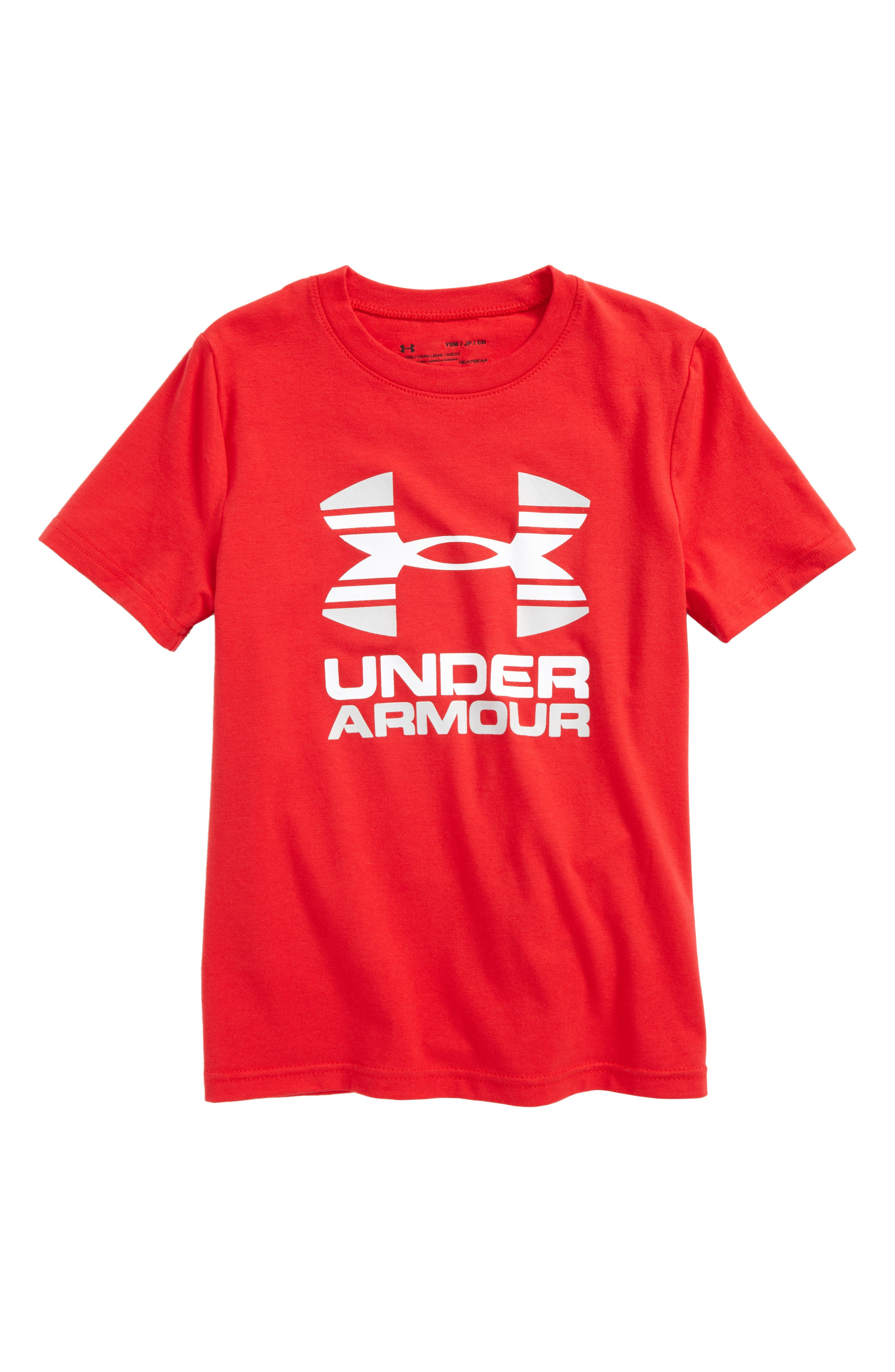 Under Armour Two-Tone Logo HeatGear® T-Shirt (Big Boys)