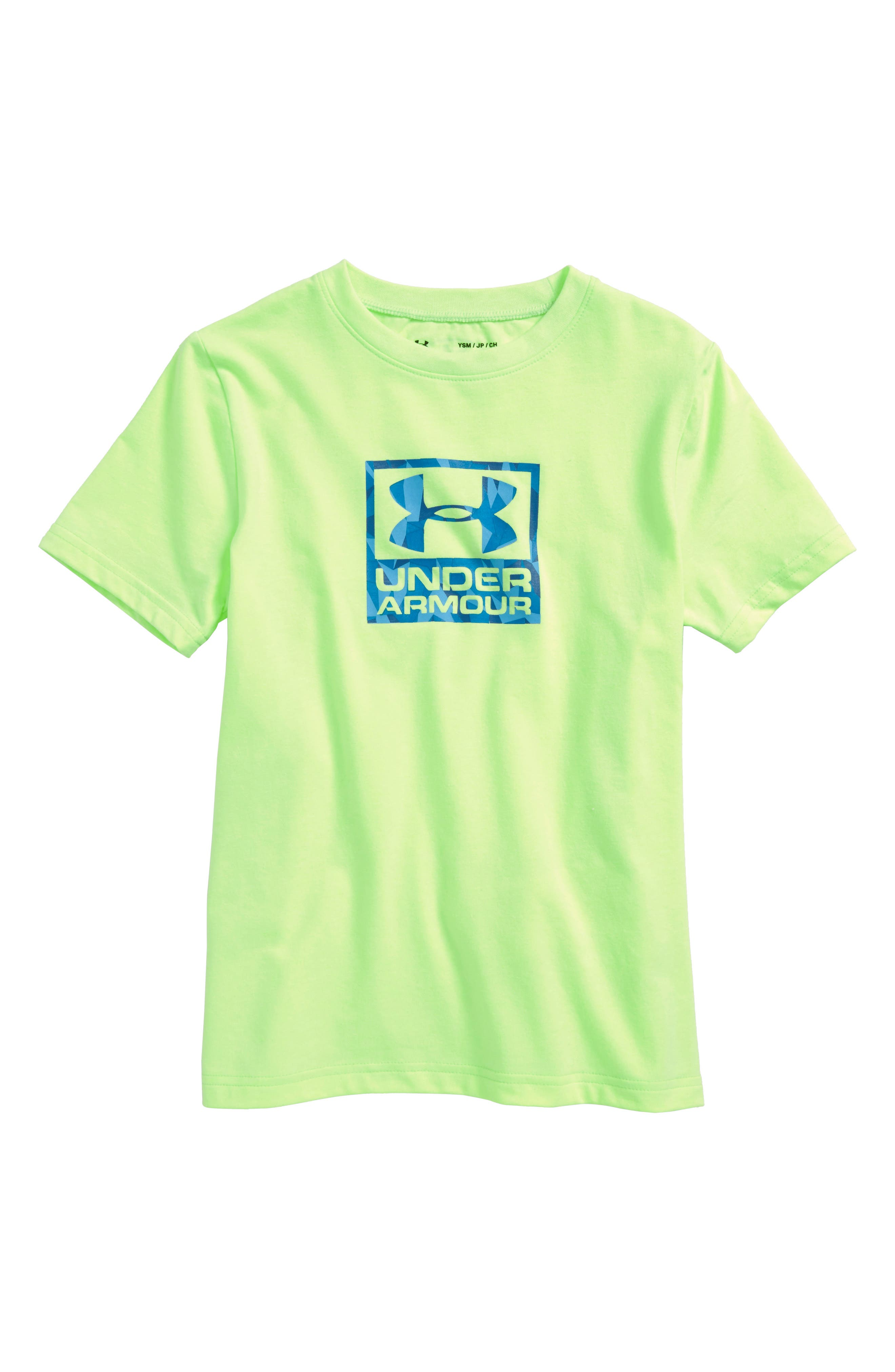 Duo Logo T-Shirt,                             Main thumbnail 1, color,                             Quirky Lime Light Heather