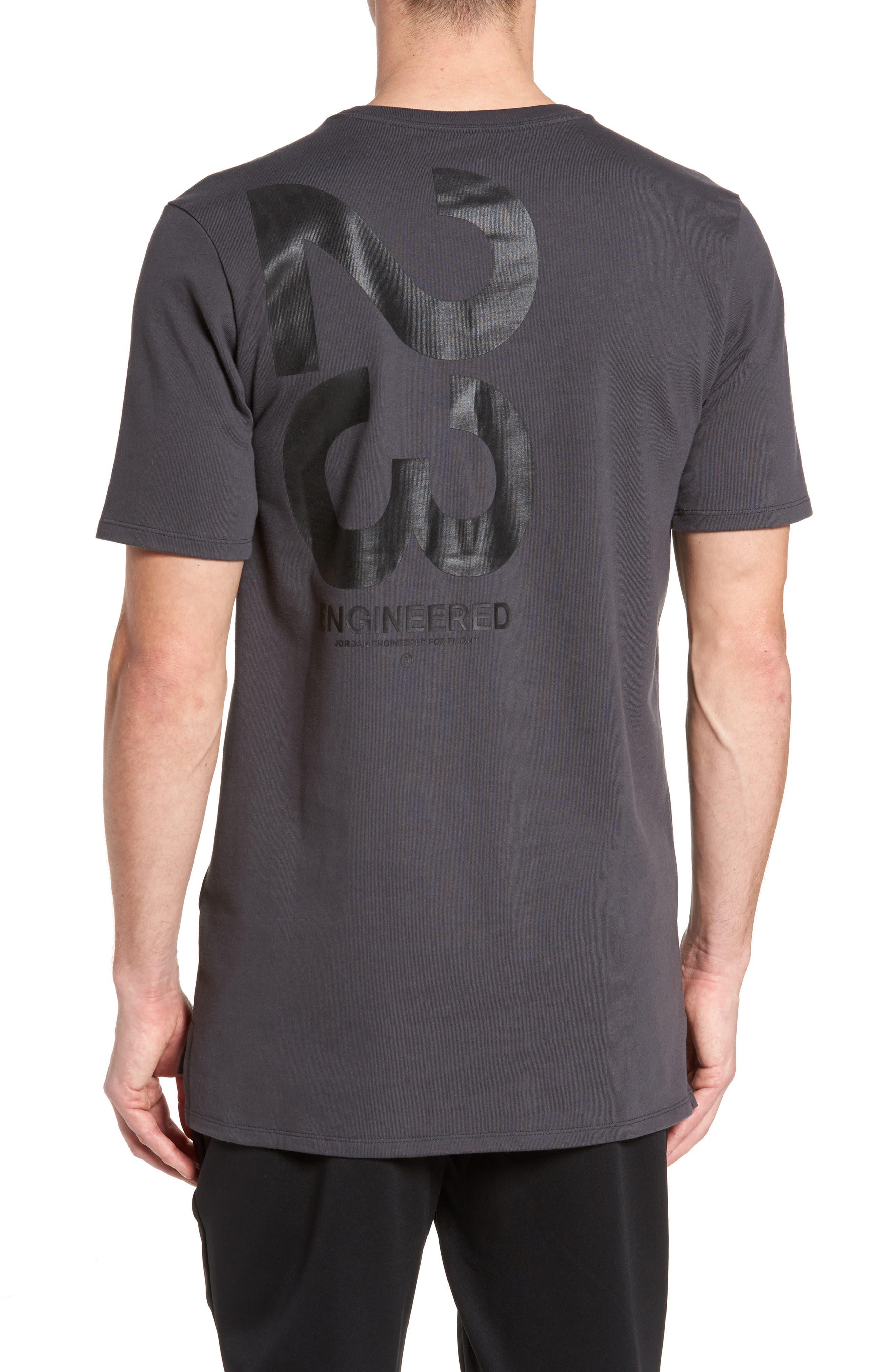 Sportswear 23 Engineered T-Shirt,                             Alternate thumbnail 2, color,                             Anthracite/ Black