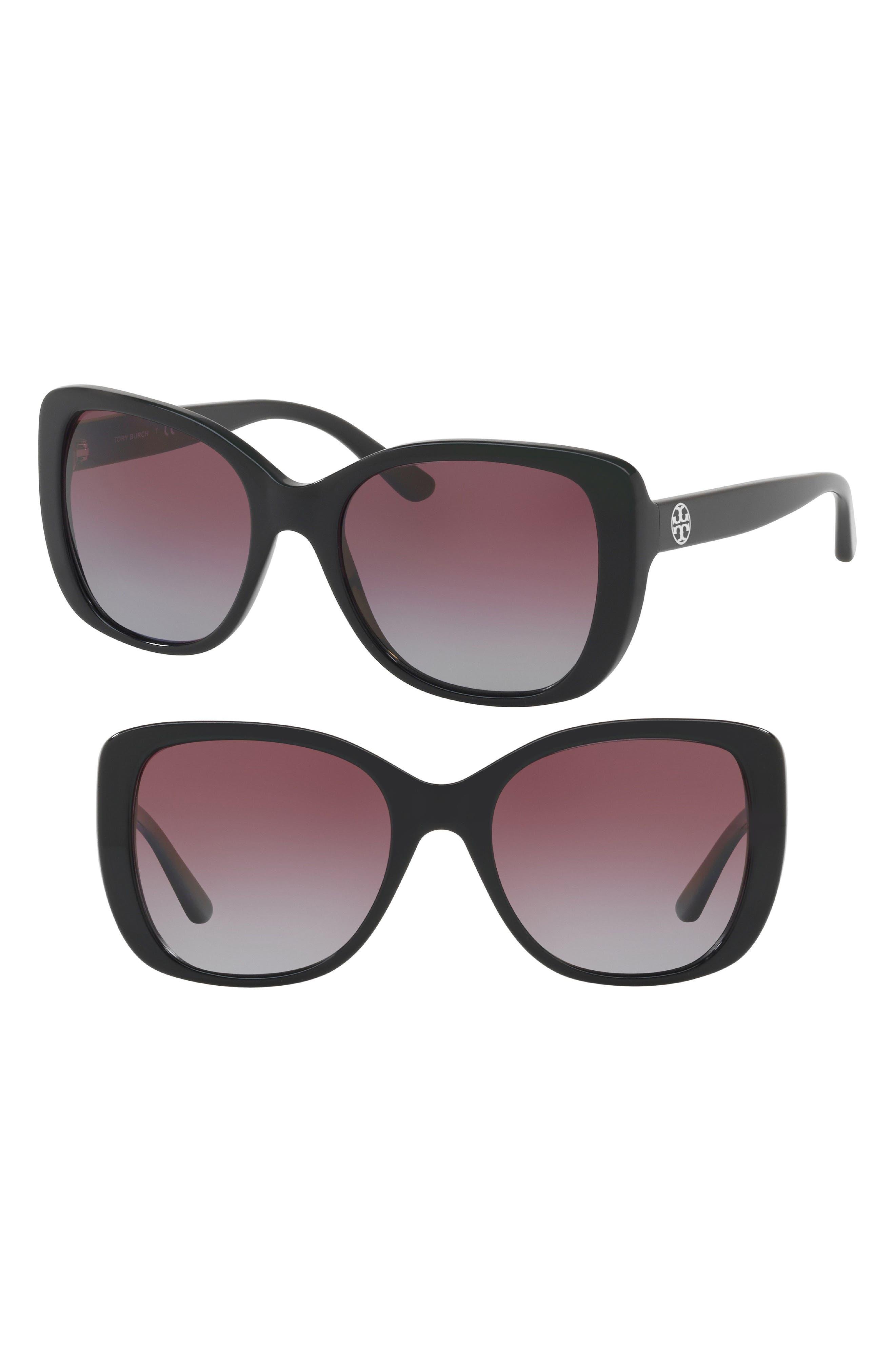 Tory Burch 53mm Gradient Rectangle Sunglasses