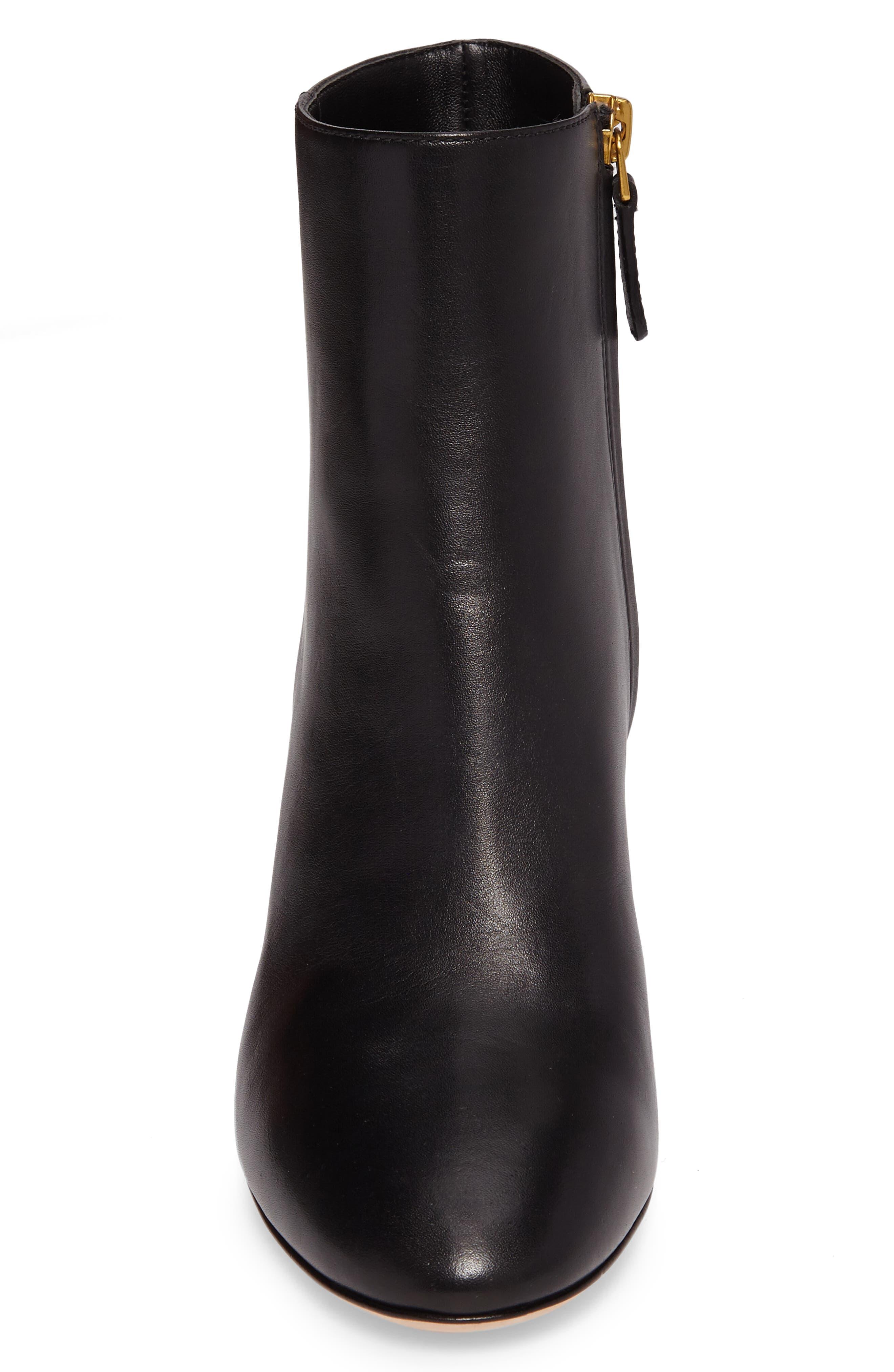 Brooke Bootie,                             Alternate thumbnail 4, color,                             Black Leather