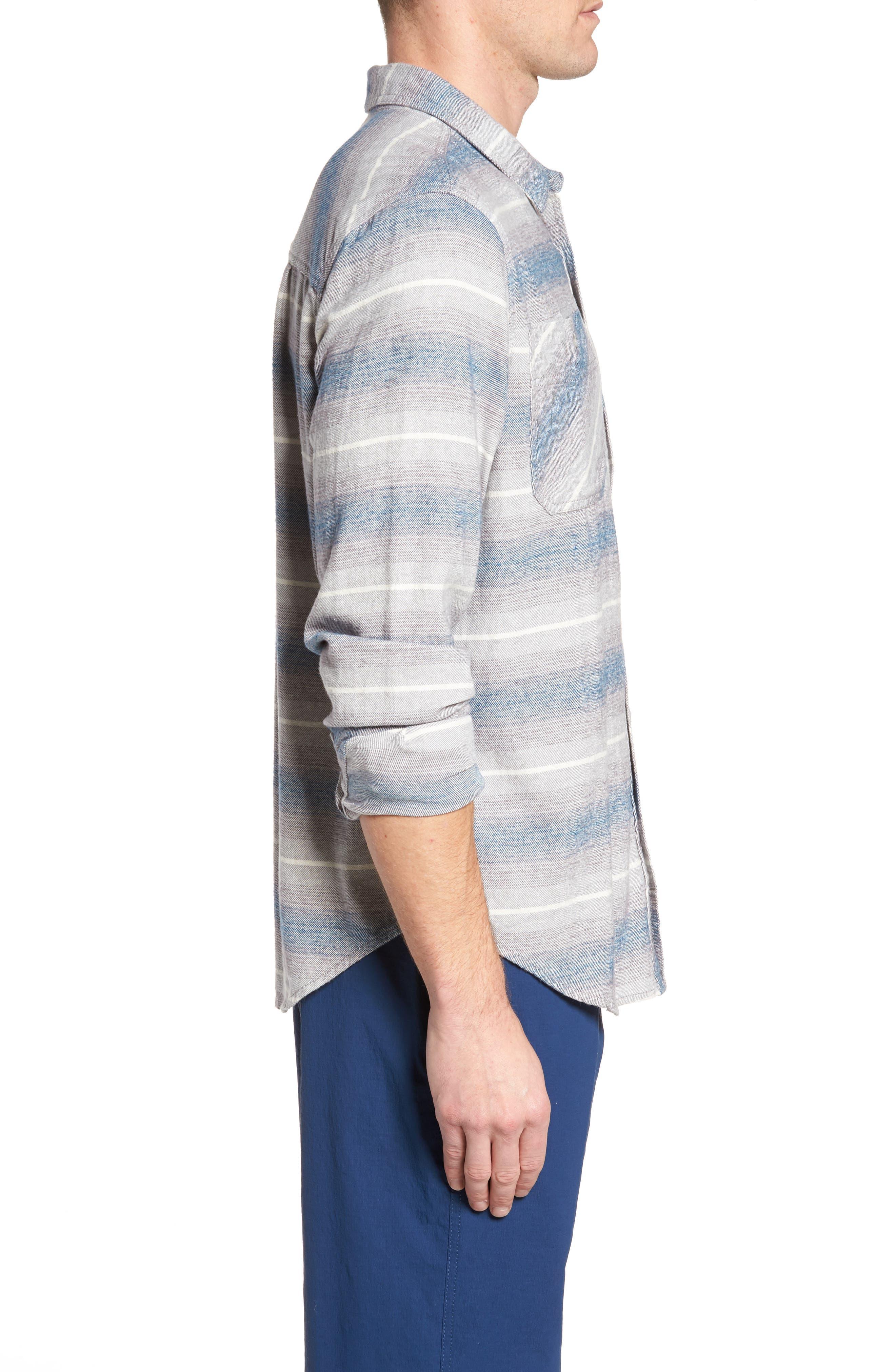 General Purpose Regular Fit Stripe Sport Shirt,                             Alternate thumbnail 3, color,                             Blue Abyss