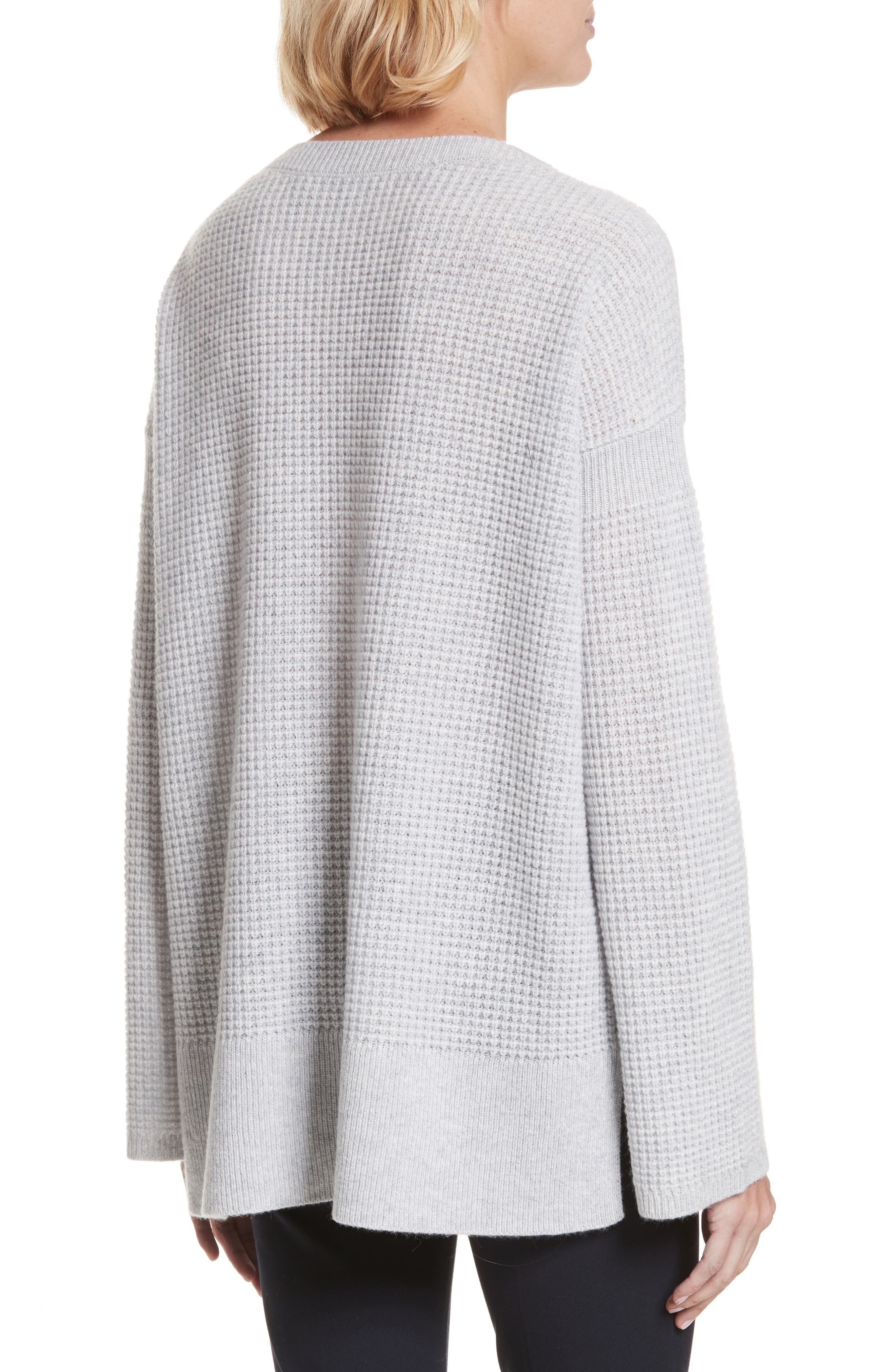 Cinch Sleeve Cashmere Sweater,                             Alternate thumbnail 2, color,                             Whale Grey