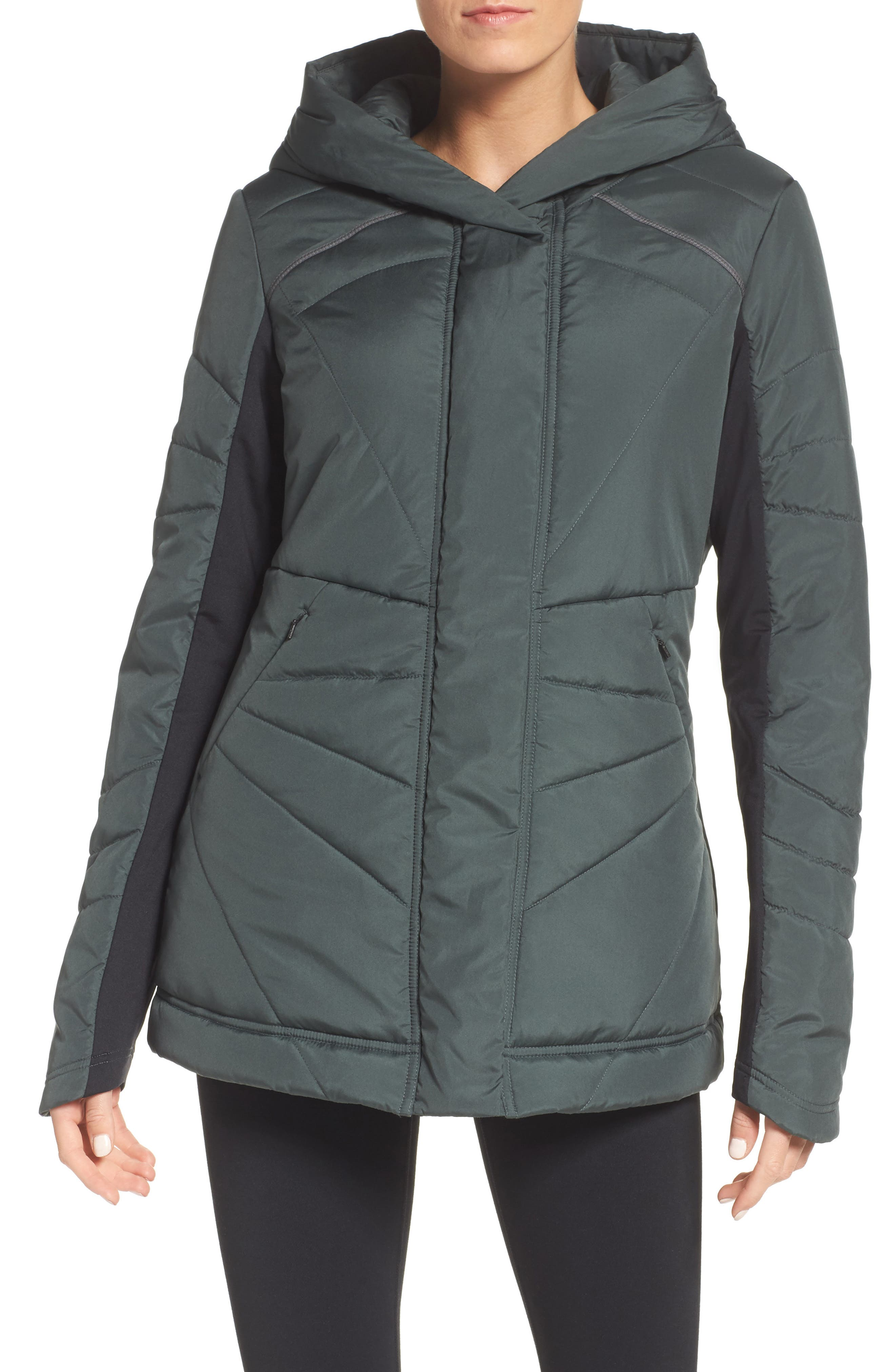 Zella Beyond Hooded Puffer Jacket