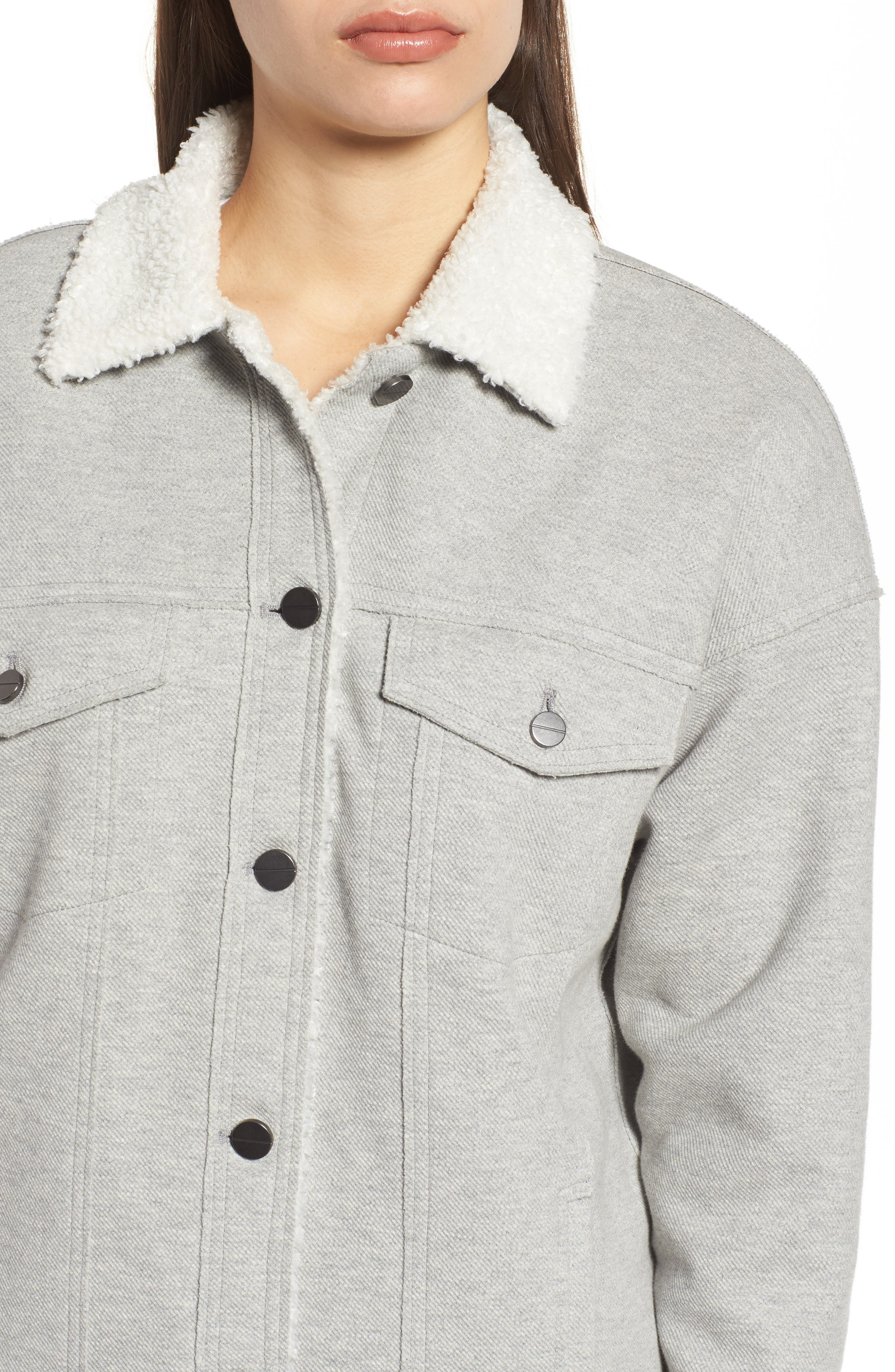 Alternate Image 4  - Kenneth Cole New York Knit Trucker Jacket