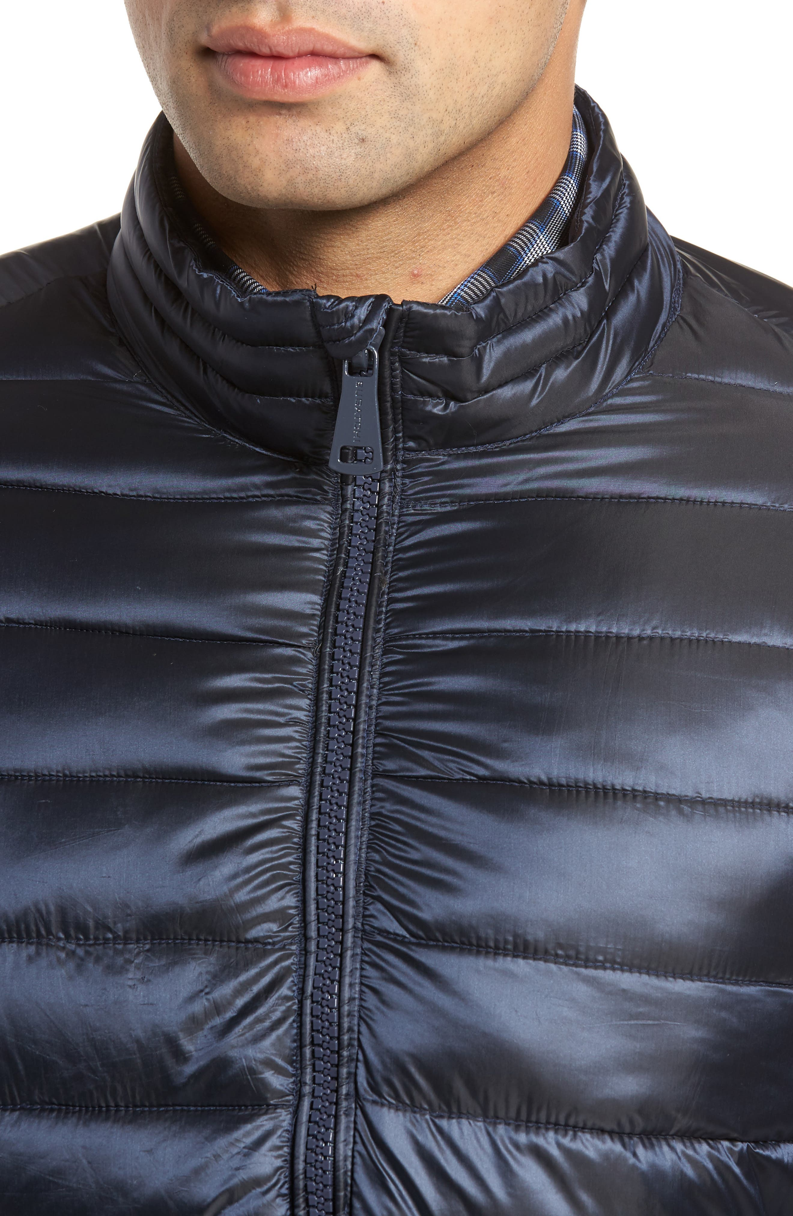 Channel Quilted Jacket,                             Alternate thumbnail 4, color,                             Navy