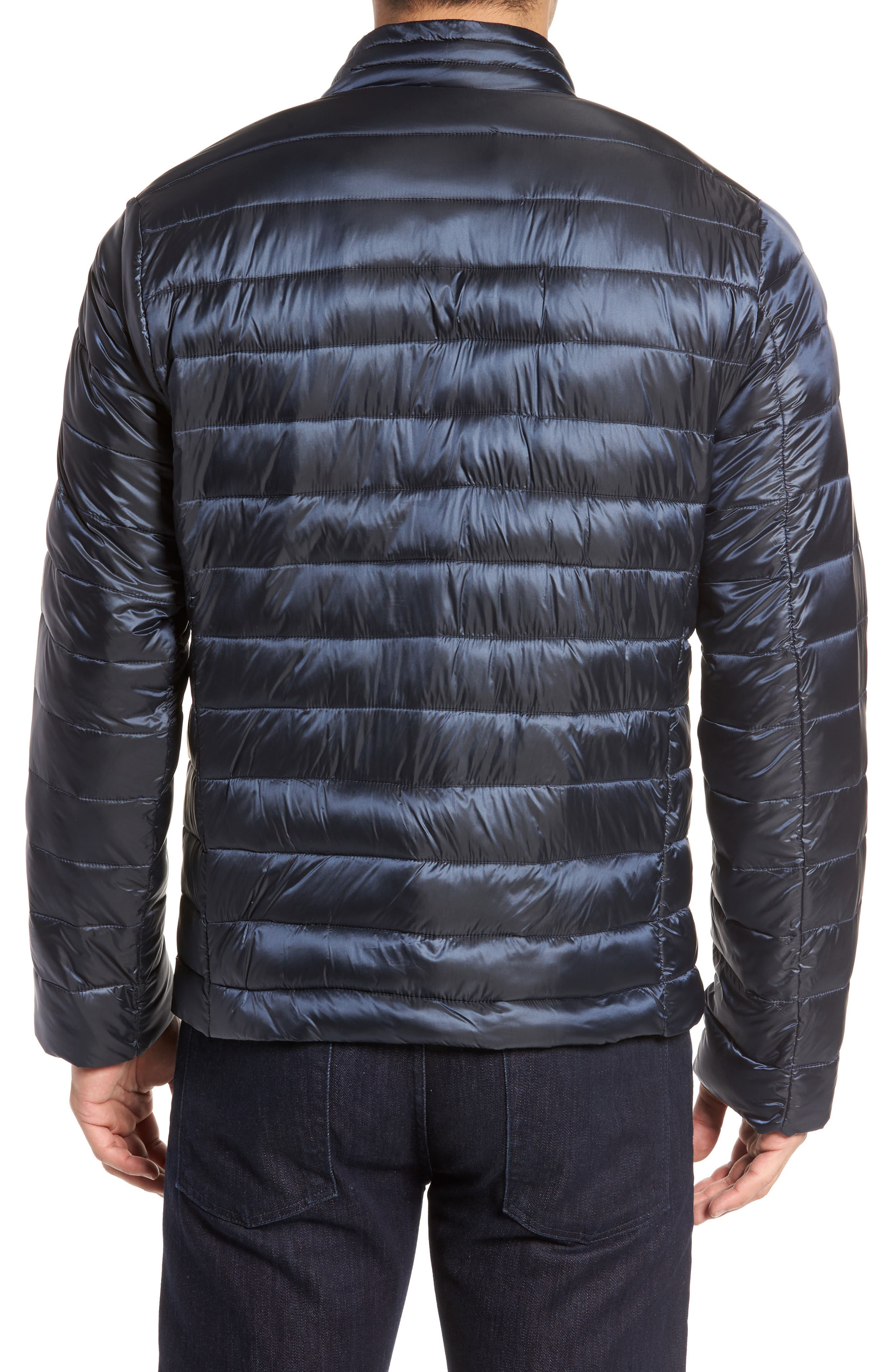 Channel Quilted Jacket,                             Alternate thumbnail 2, color,                             Navy