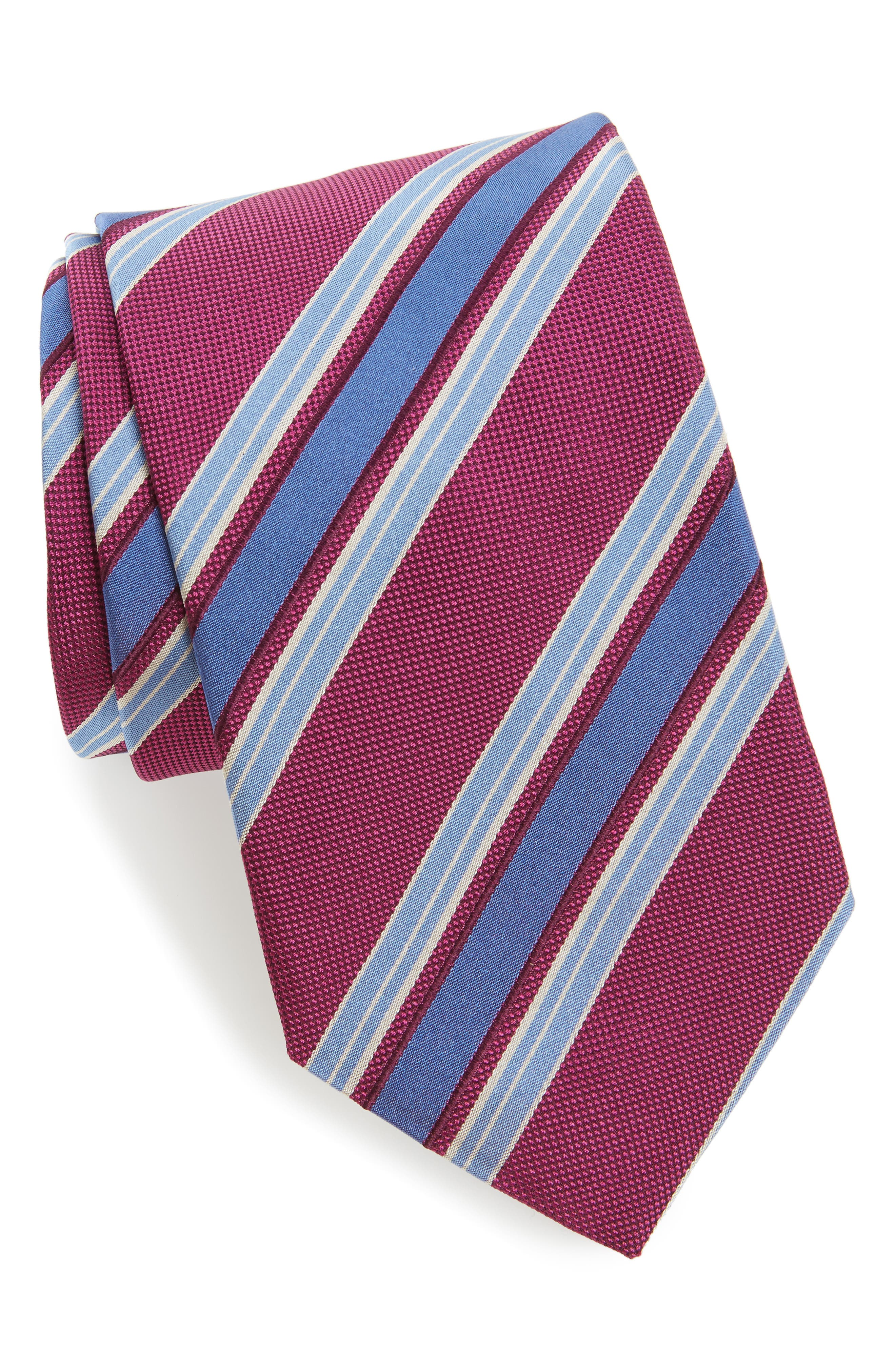 David Donahue Stripe Silk Tie (XL)