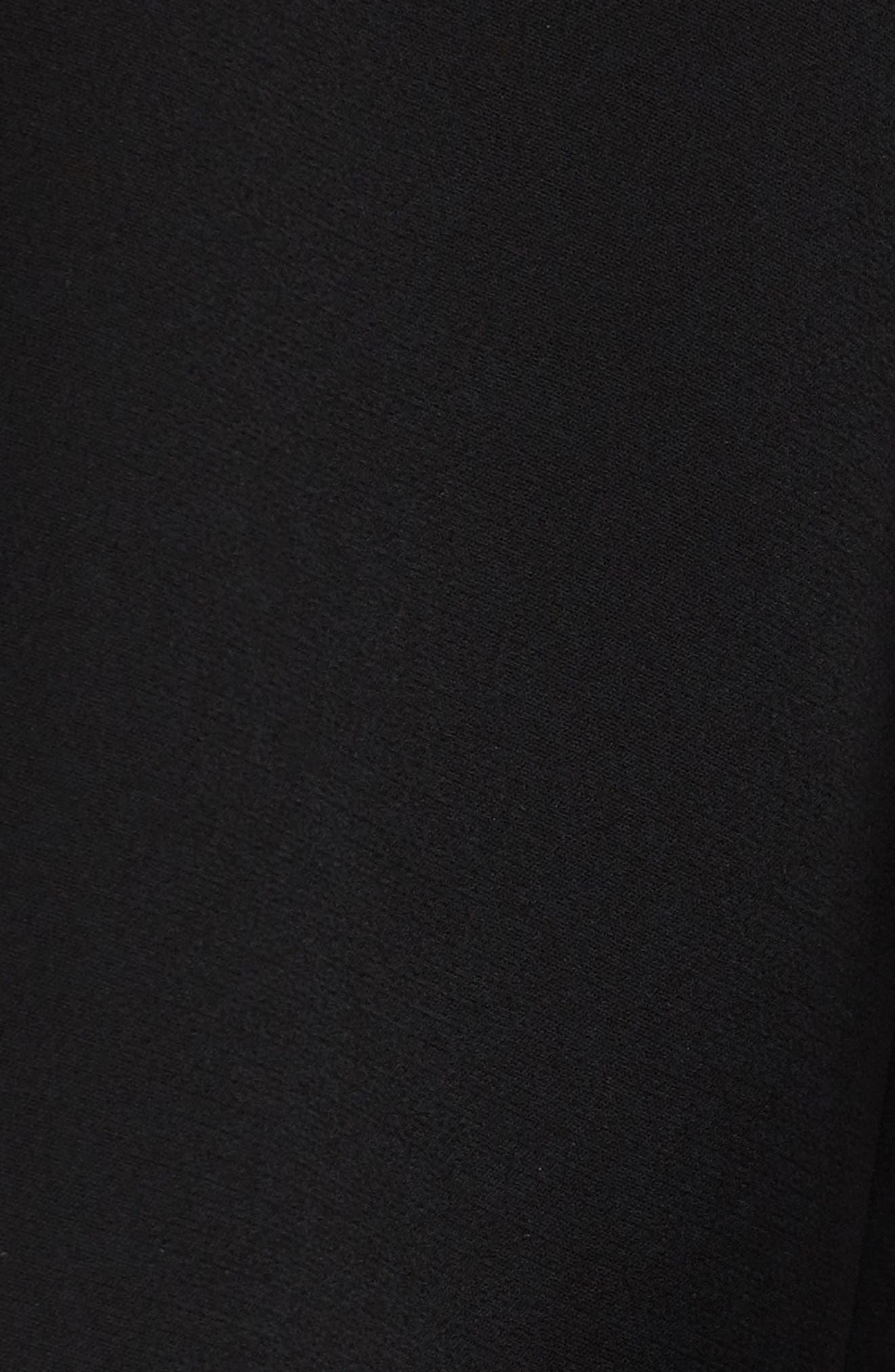 Velez Finesse Crepe Shift Dress,                             Alternate thumbnail 5, color,                             Black