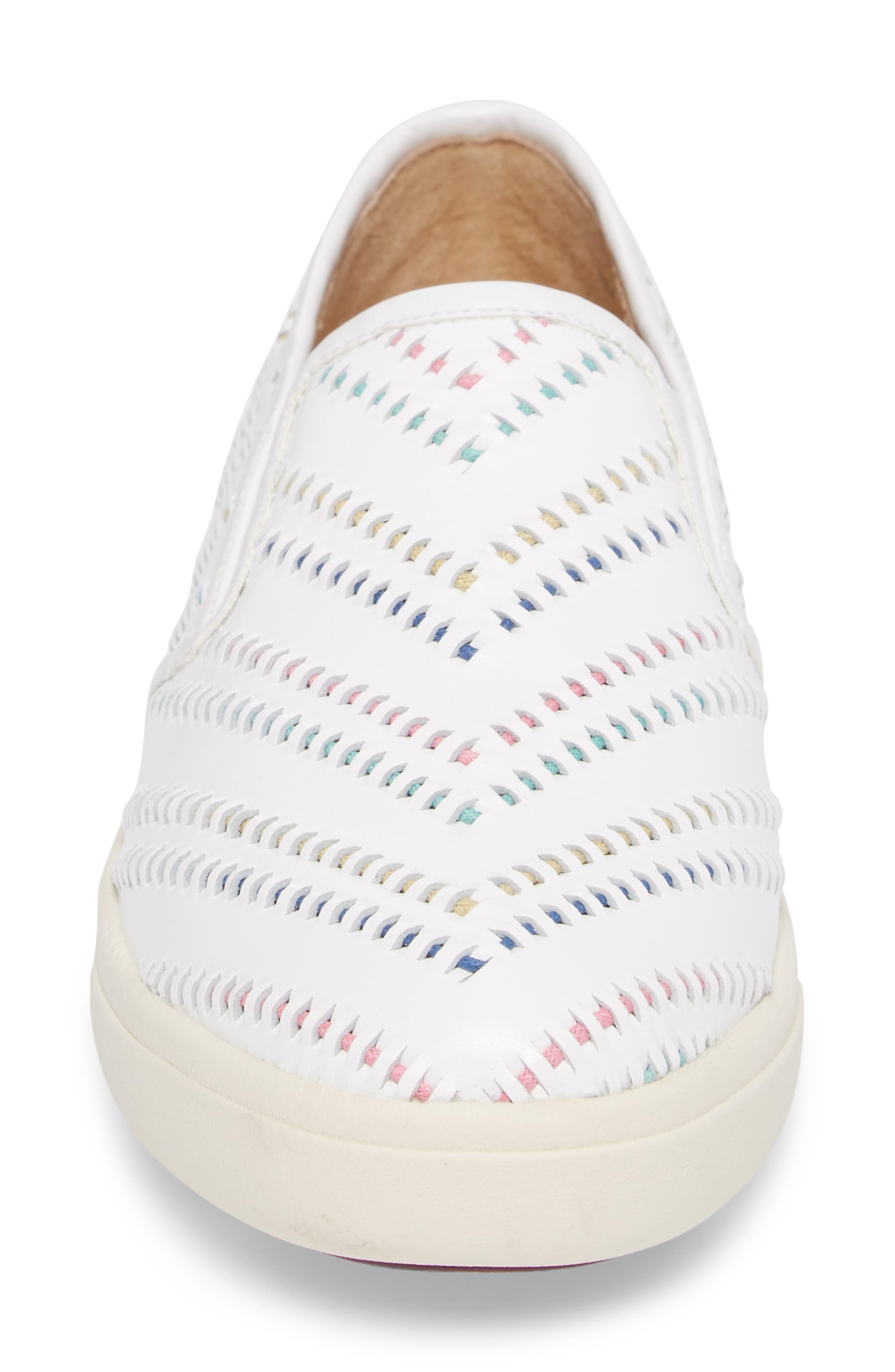 Ocean Slip-On Sneaker,                             Alternate thumbnail 4, color,                             White Leather