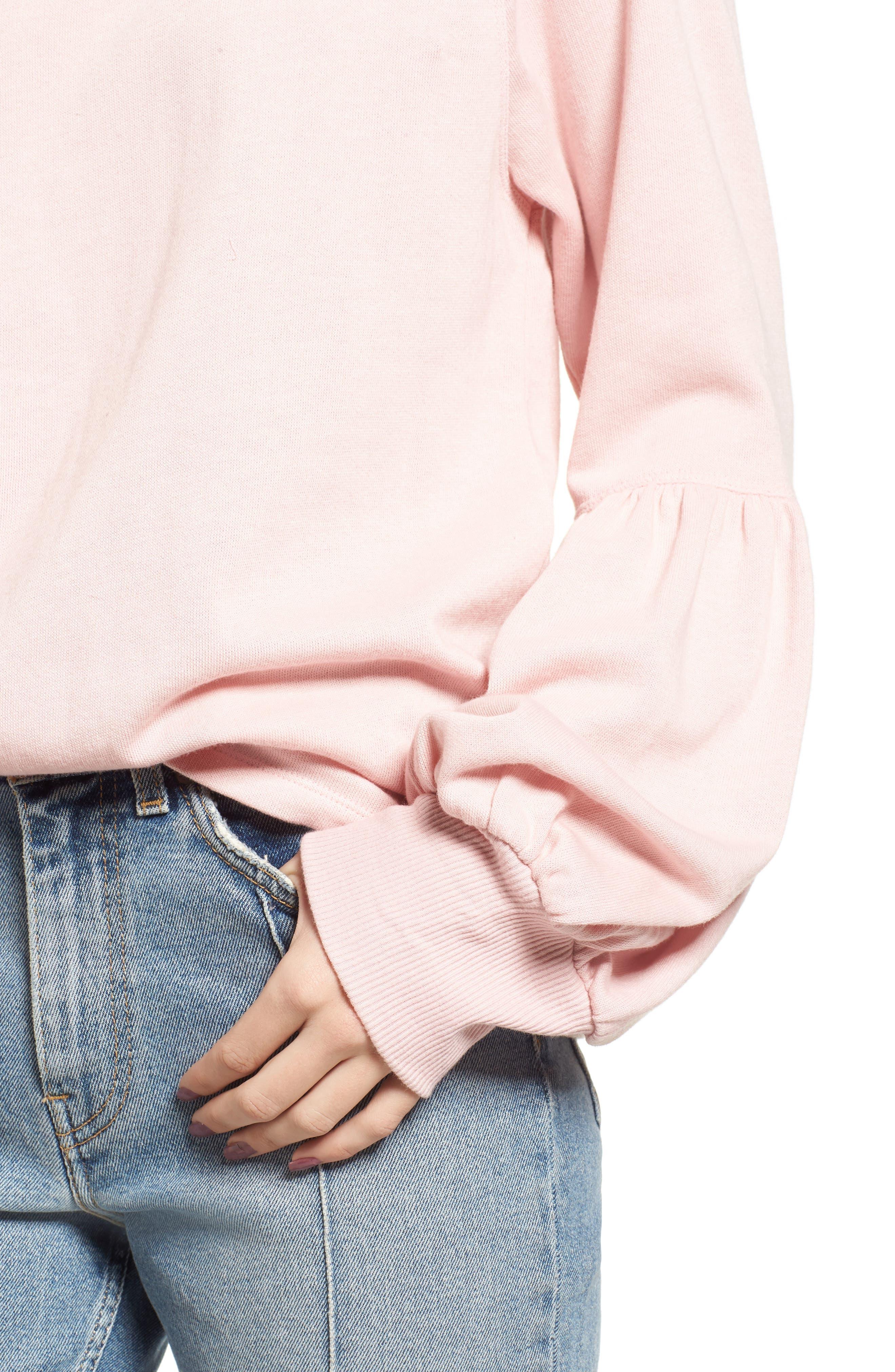 Alternate Image 4  - BP. Blouson Sleeve Sweatshirt