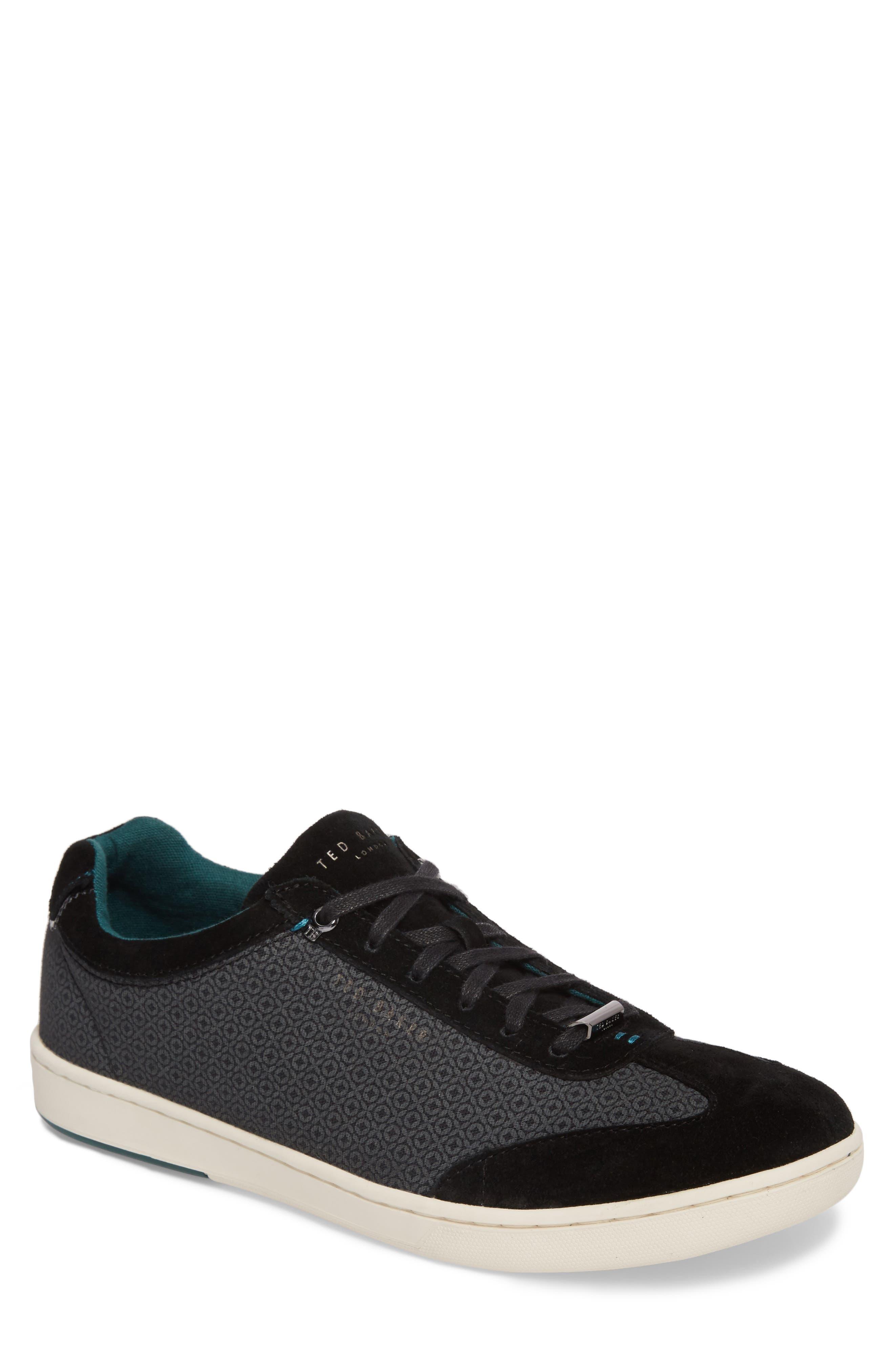 Kiefer Sneaker,                             Main thumbnail 1, color,                             Black Suede