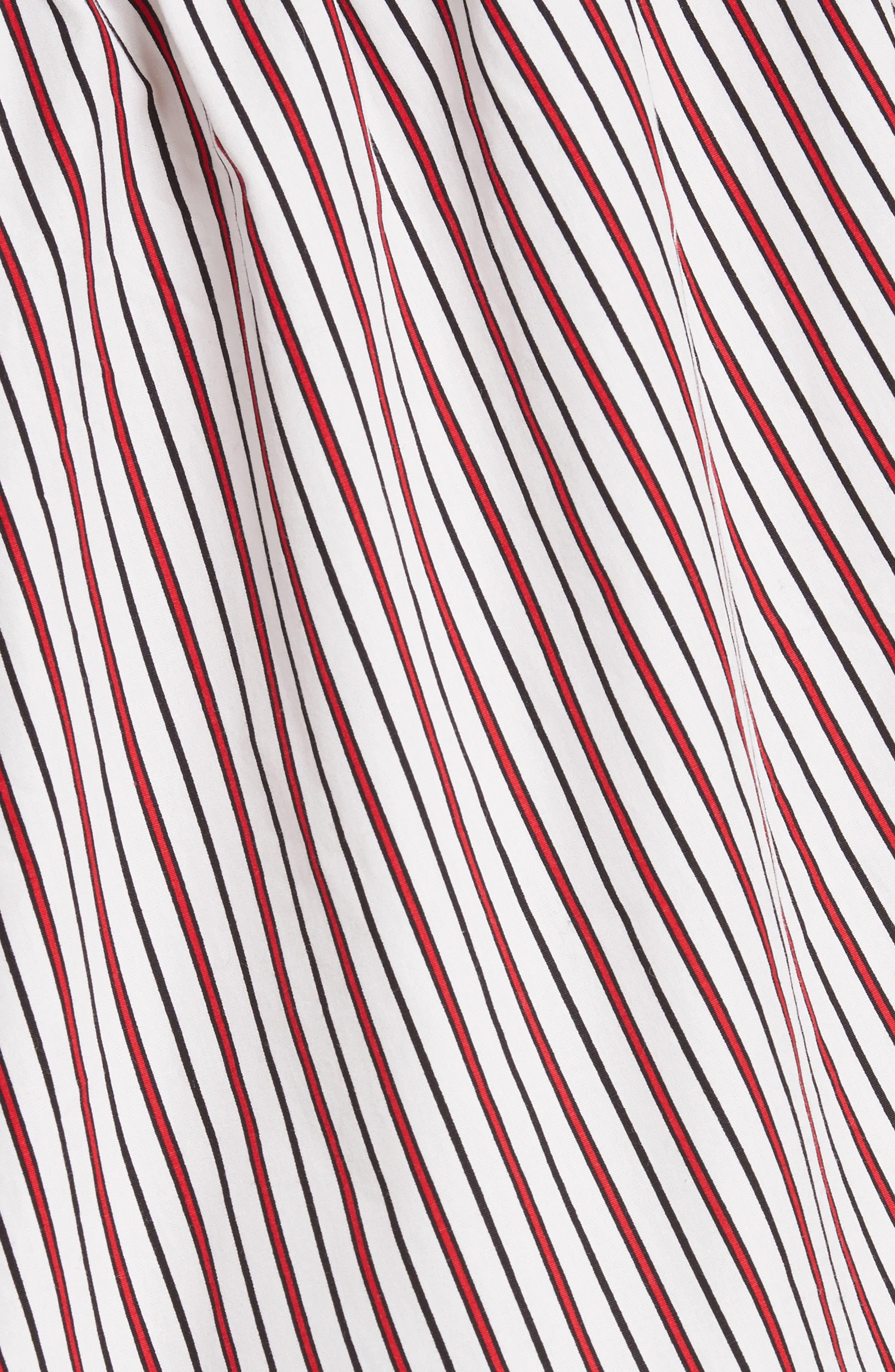 Cinched One-Shoulder Top,                             Alternate thumbnail 5, color,                             Red Stripe