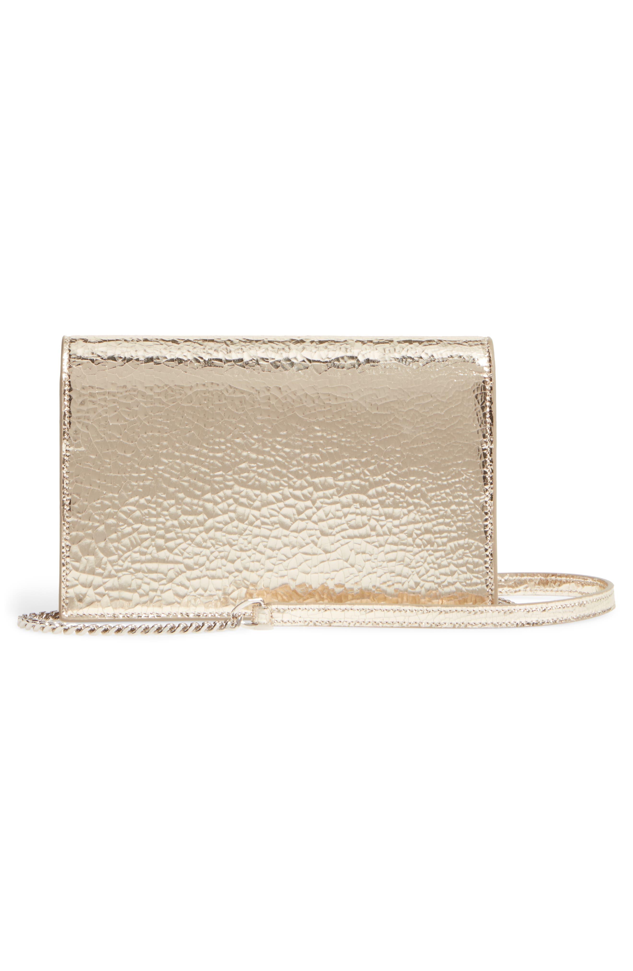 Alternate Image 3  - Saint Laurent Kate Crackle Calfskin Wallet on a Chain