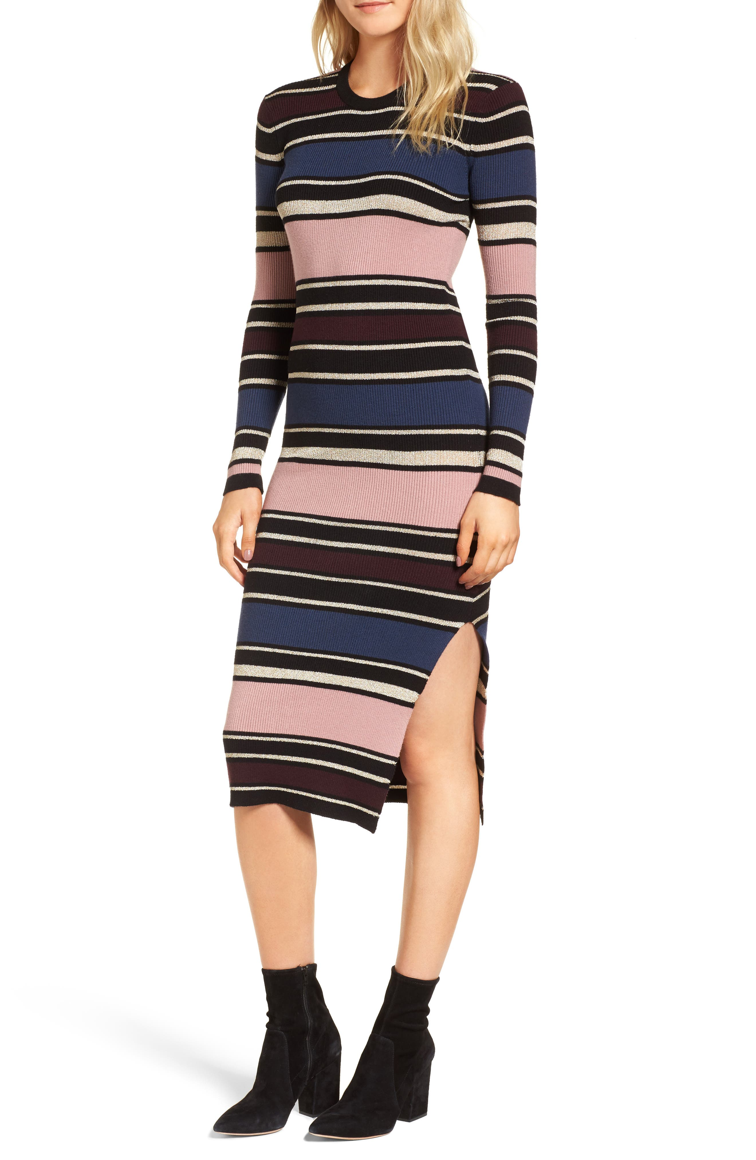 Barrow Stripe Midi Dress,                         Main,                         color, Multi